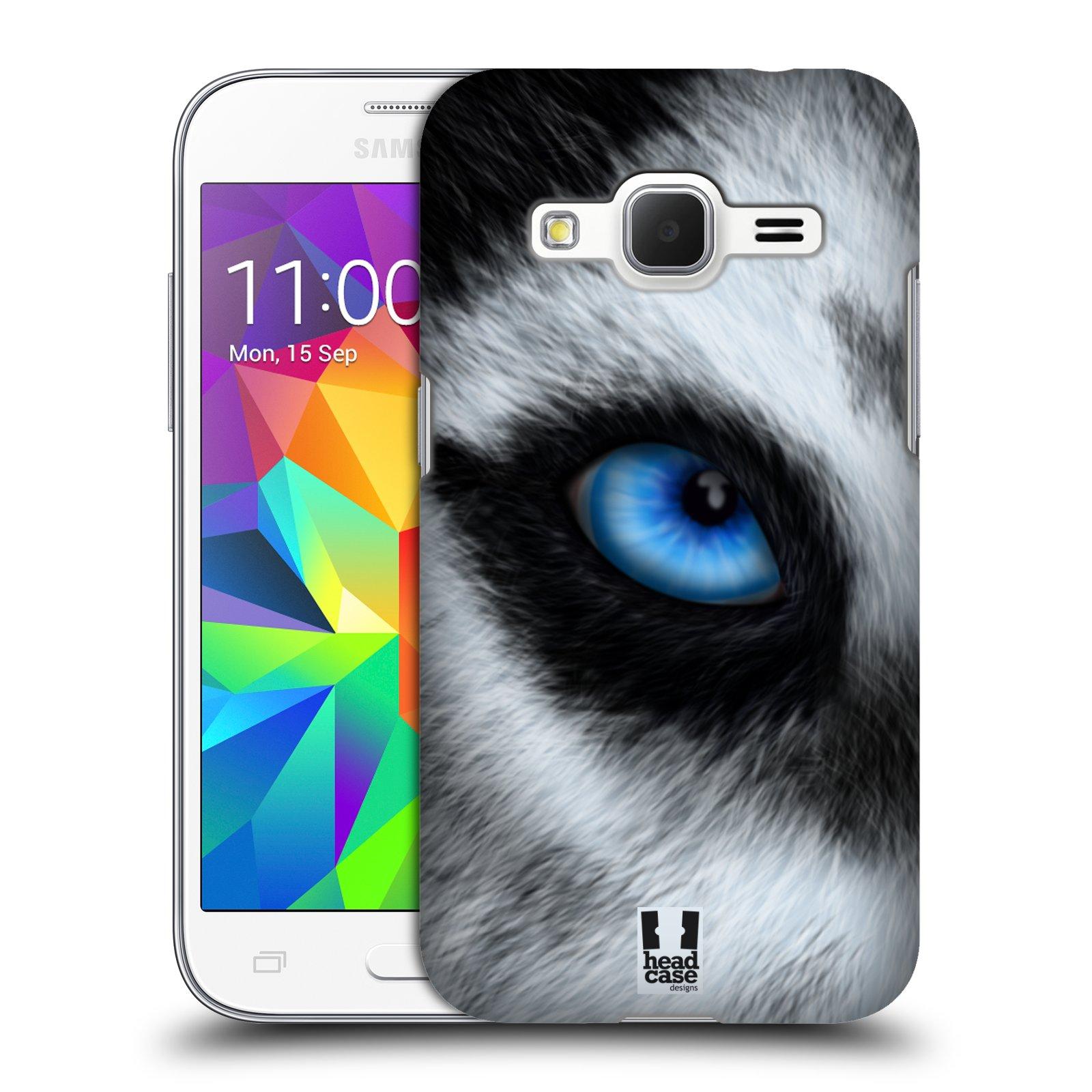 HEAD CASE plastový obal na mobil SAMSUNG GALAXY Core Prime (Core Prime VE) vzor pohled zvířete oko pes husky