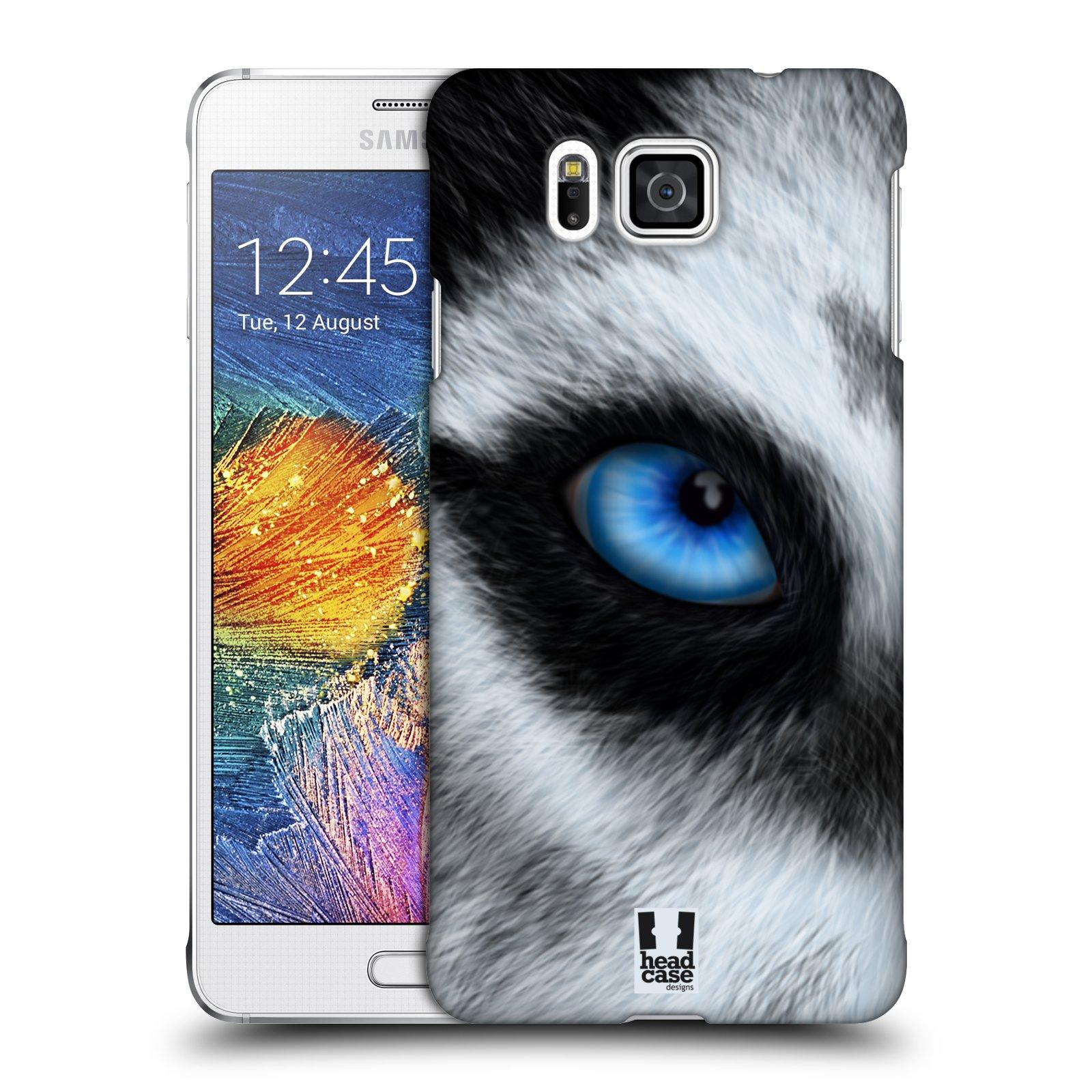 HEAD CASE plastový obal na mobil SAMSUNG Galaxy Alpha (G850) vzor pohled zvířete oko pes husky