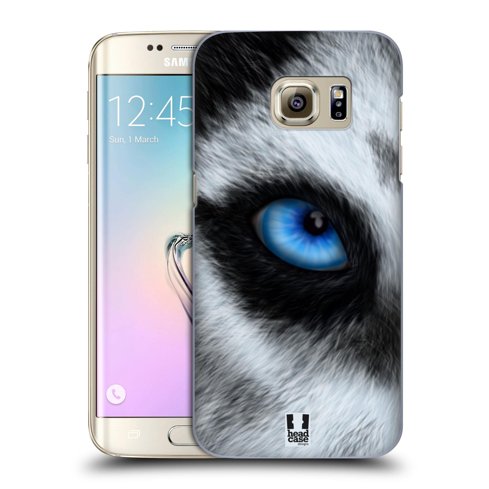 HEAD CASE plastový obal na mobil SAMSUNG GALAXY S7 EDGE vzor pohled zvířete oko pes husky