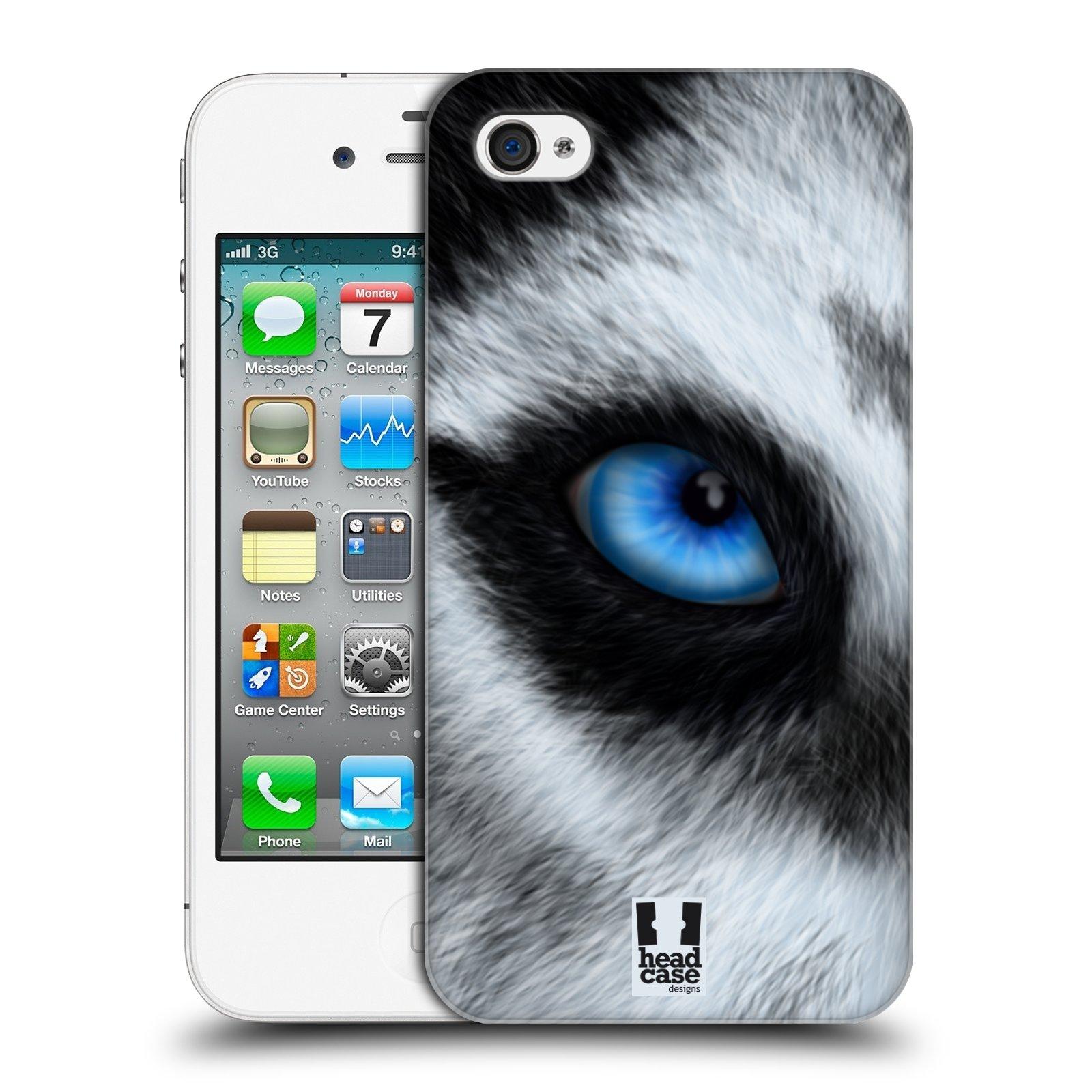 HEAD CASE plastový obal na mobil Apple Iphone 4/4S vzor pohled zvířete oko pes husky