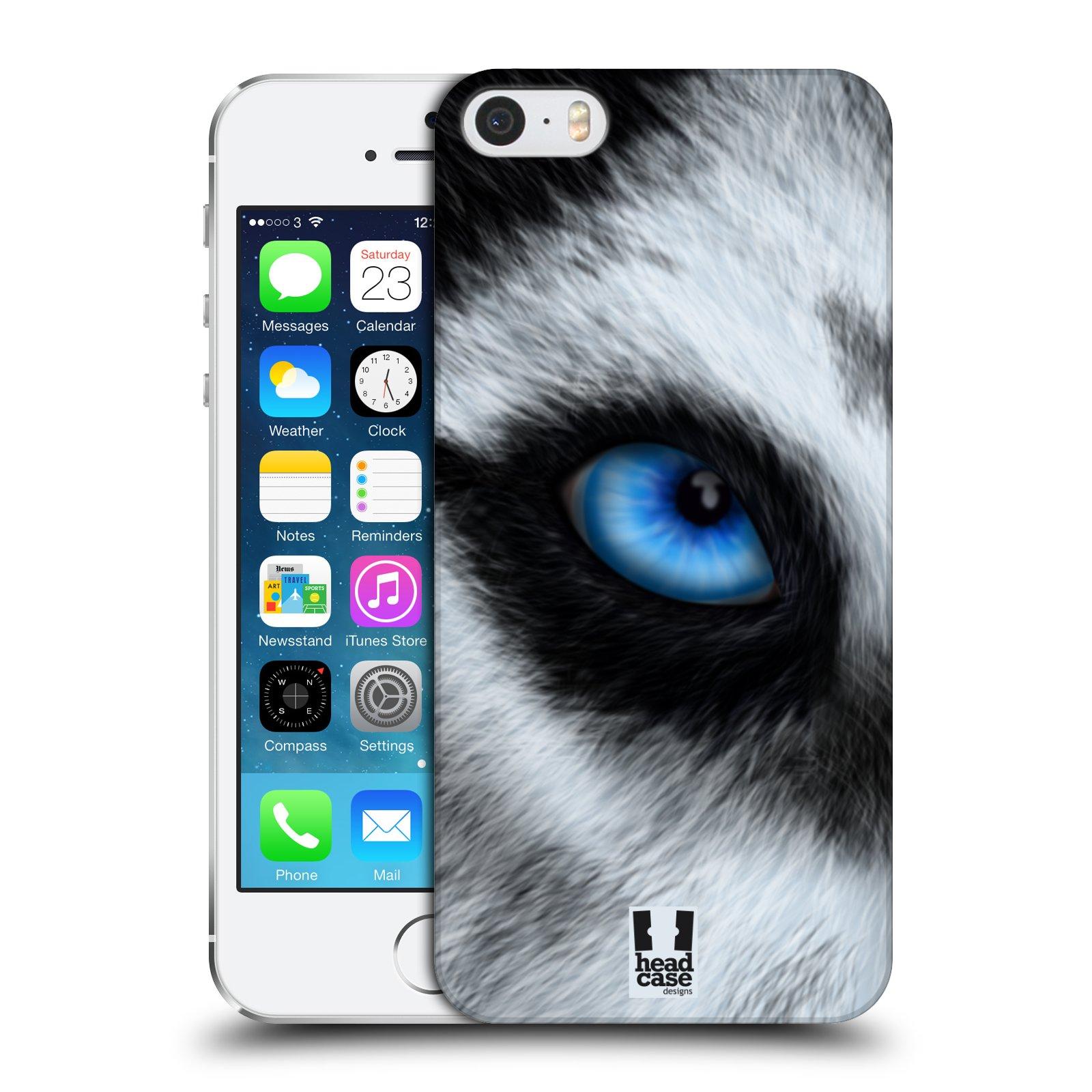 Plastové pouzdro pro mobil Apple Iphone 5 / 5S / SE vzor pohled zvířete oko pes husky