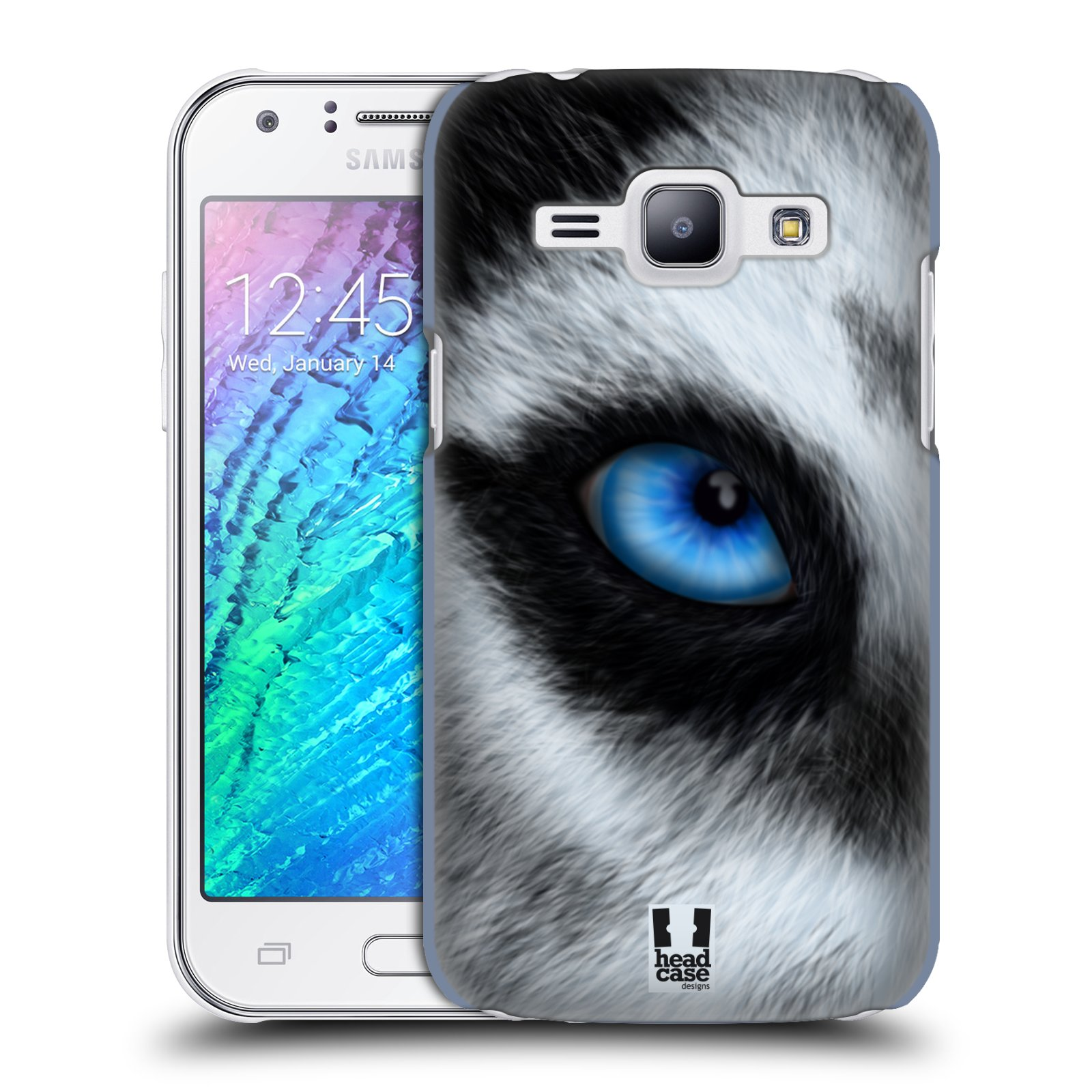 HEAD CASE plastový obal na mobil SAMSUNG Galaxy J1, J100 vzor pohled zvířete oko pes husky