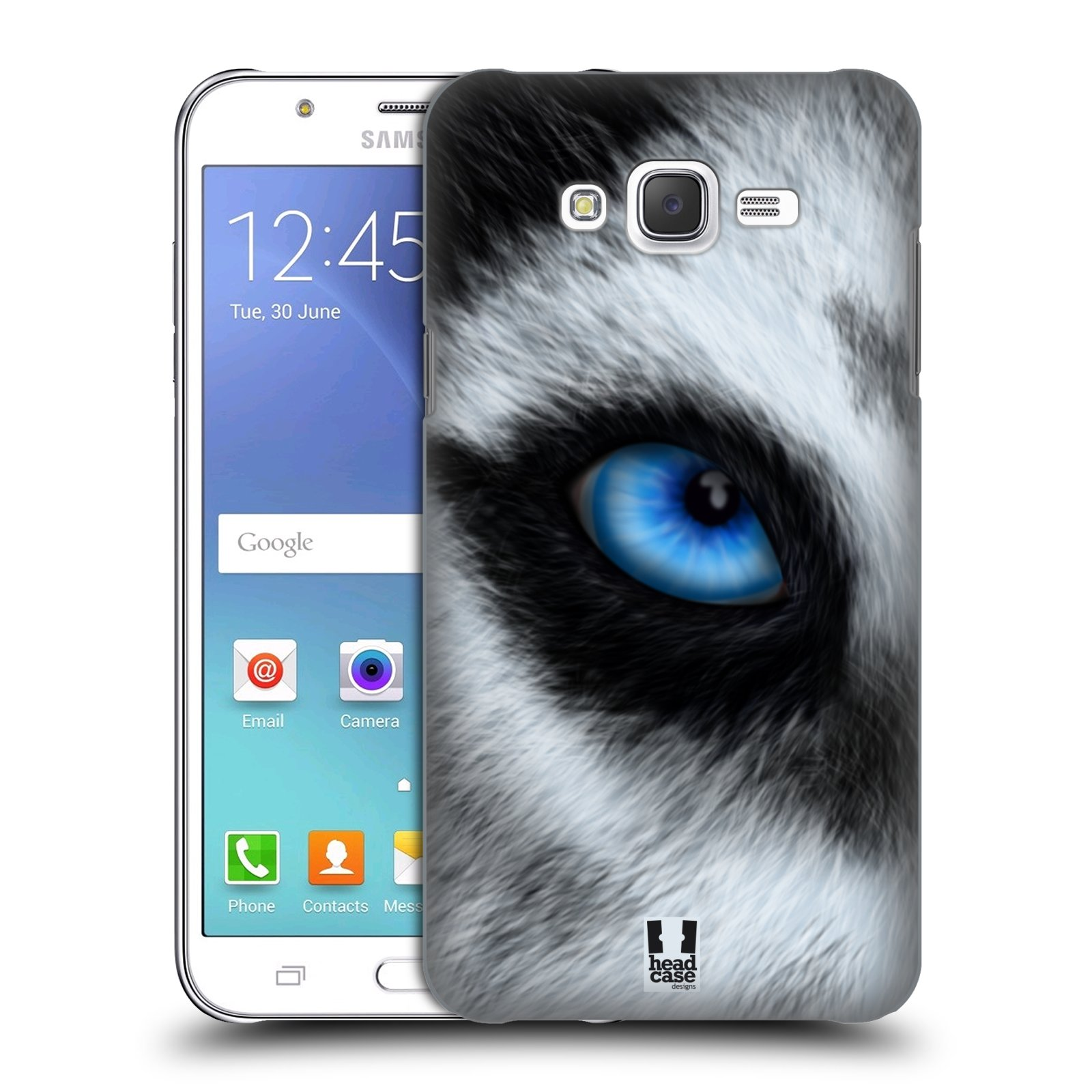 HEAD CASE plastový obal na mobil SAMSUNG Galaxy J7, J700 vzor pohled zvířete oko pes husky