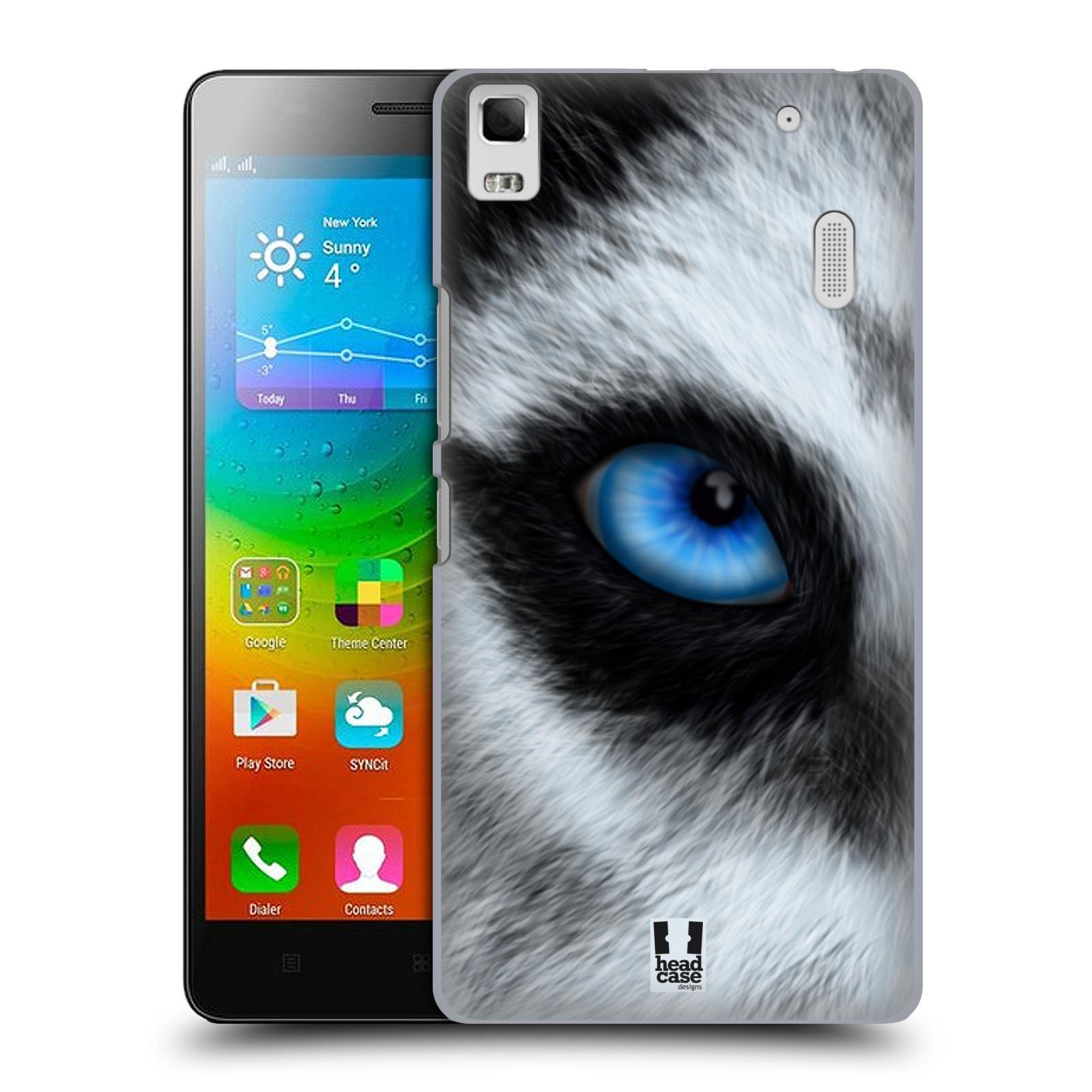 HEAD CASE pevný plastový obal na mobil LENOVO A7000 / A7000 DUAL / K3 NOTE vzor pohled zvířete oko pes husky