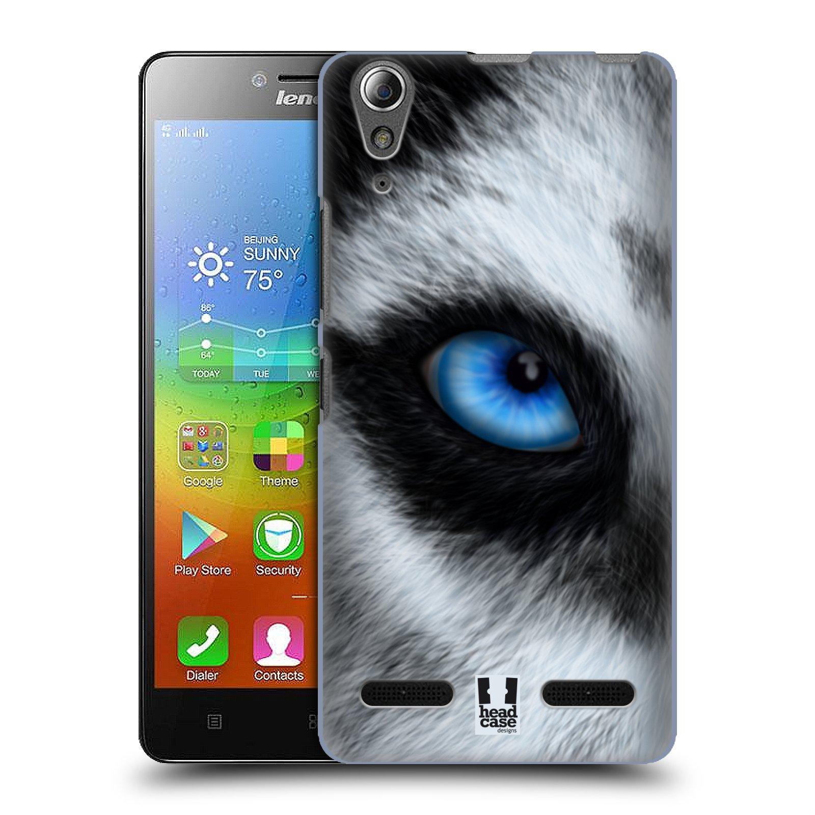 HEAD CASE pevný plastový obal na mobil LENOVO A6000 / A6000 PLUS vzor pohled zvířete oko pes husky
