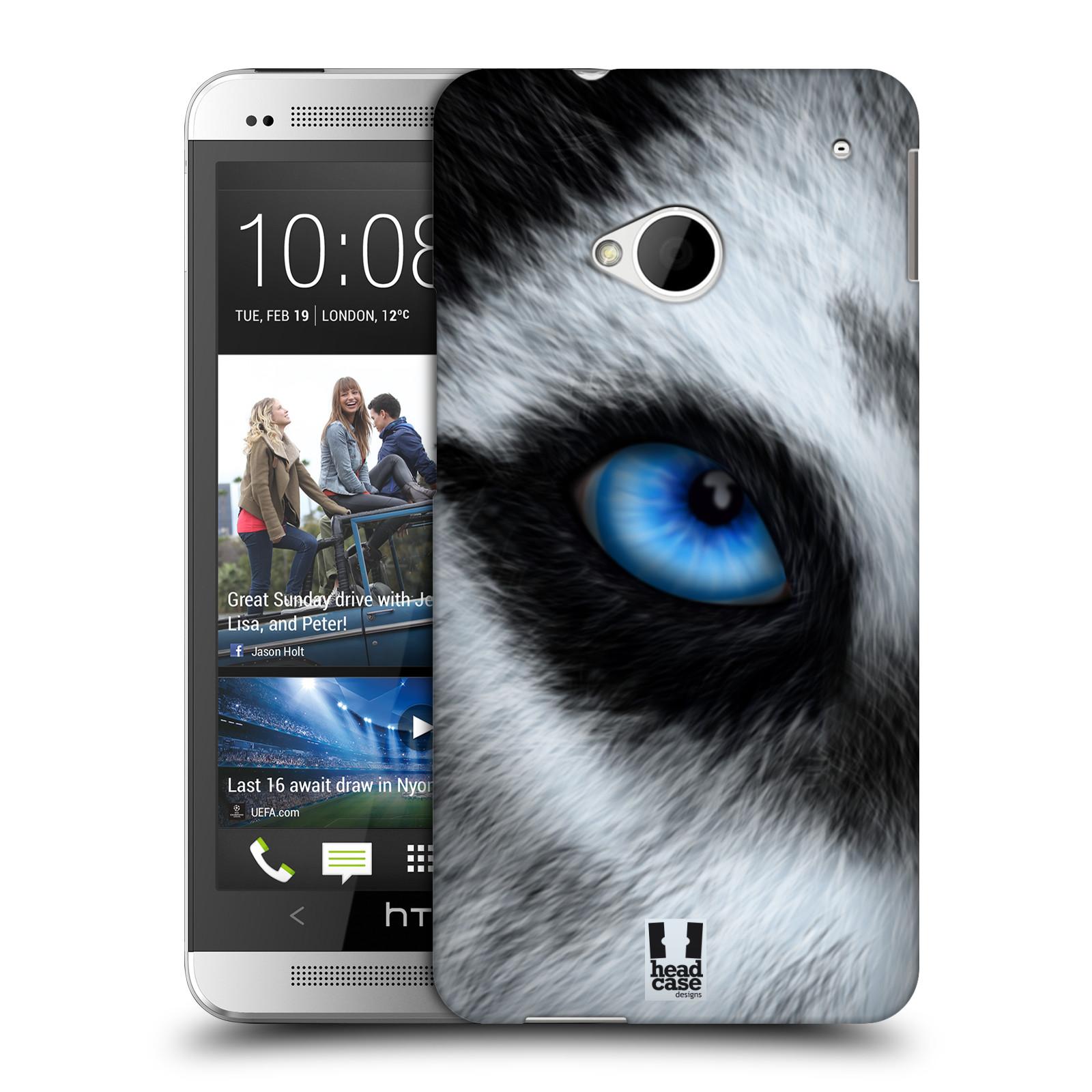 HEAD CASE plastový obal na mobil HTC One (M7) vzor pohled zvířete oko pes husky