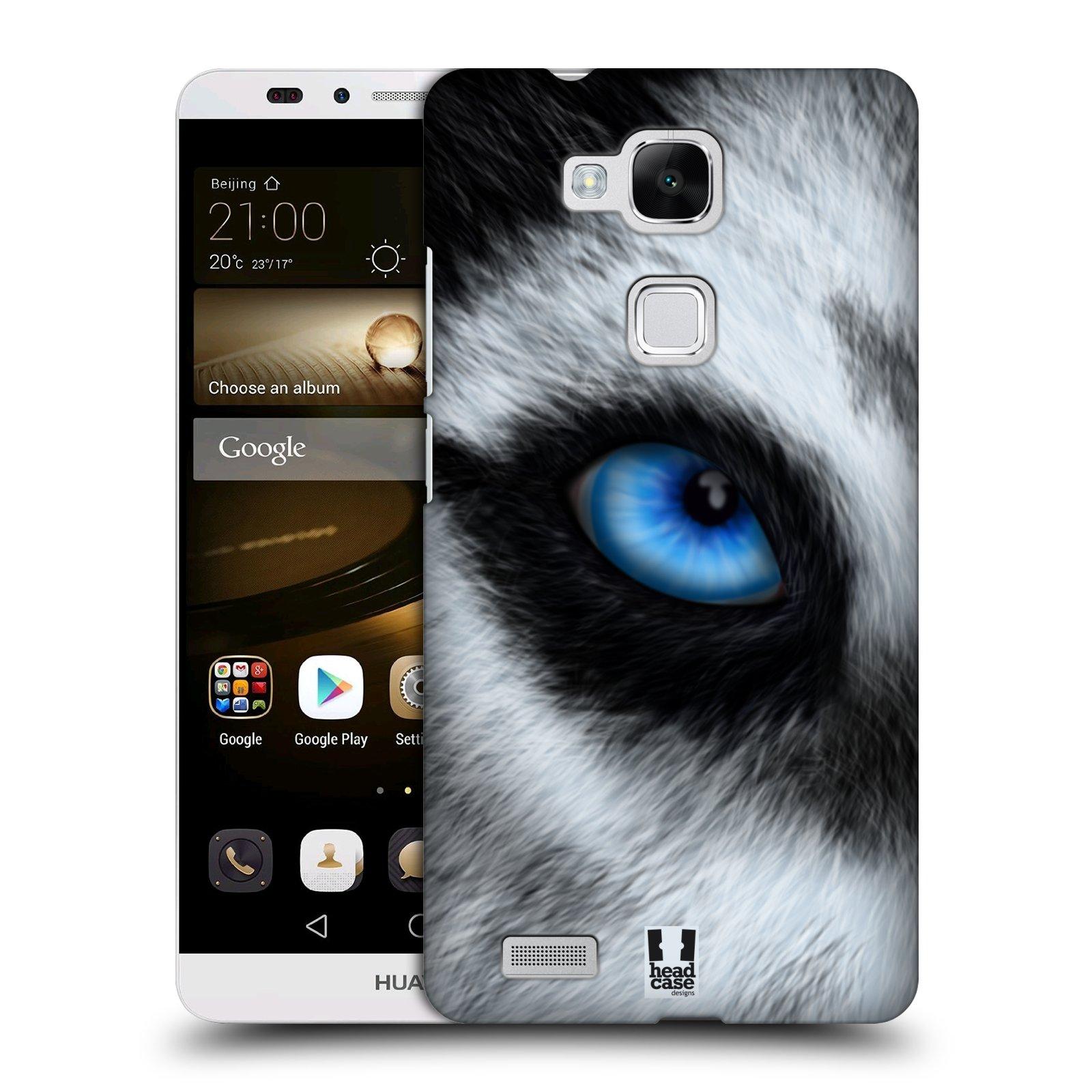 HEAD CASE plastový obal na mobil Huawei Mate 7 vzor pohled zvířete oko pes husky