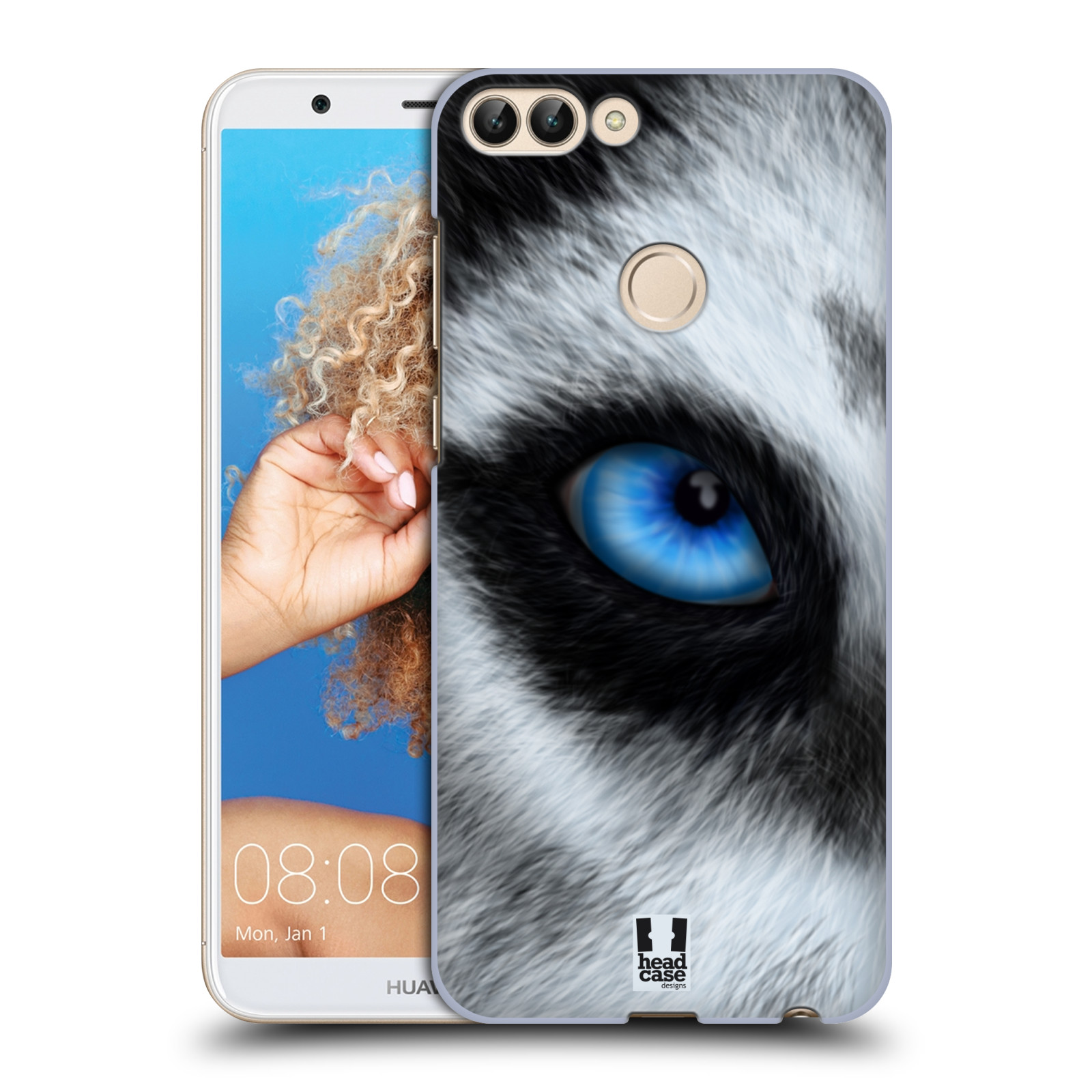 HEAD CASE plastový obal na mobil Huawei P Smart vzor pohled zvířete oko pes husky