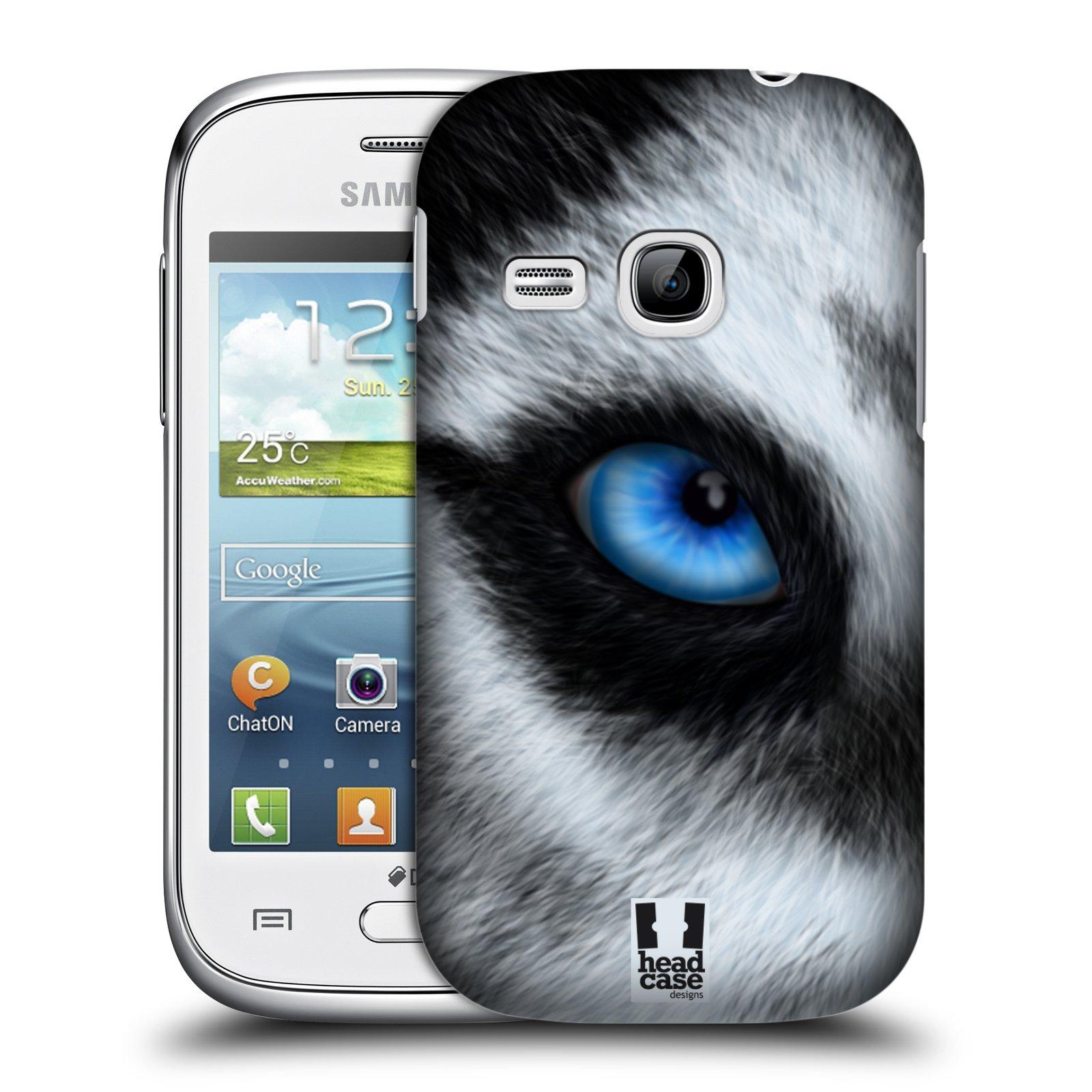 HEAD CASE plastový obal na mobil SAMSUNG Galaxy Young S6310 vzor pohled zvířete oko pes husky
