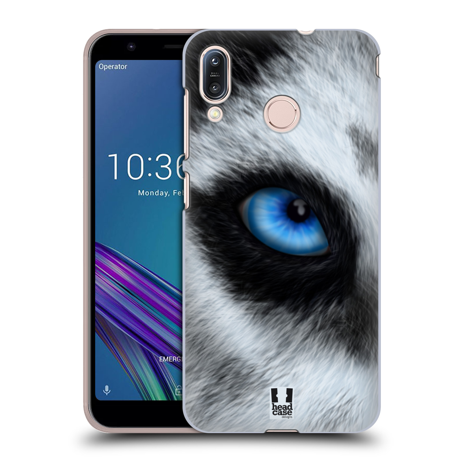 Pouzdro na mobil Asus Zenfone Max M1 (ZB555KL) - HEAD CASE - vzor pohled zvířete oko pes husky