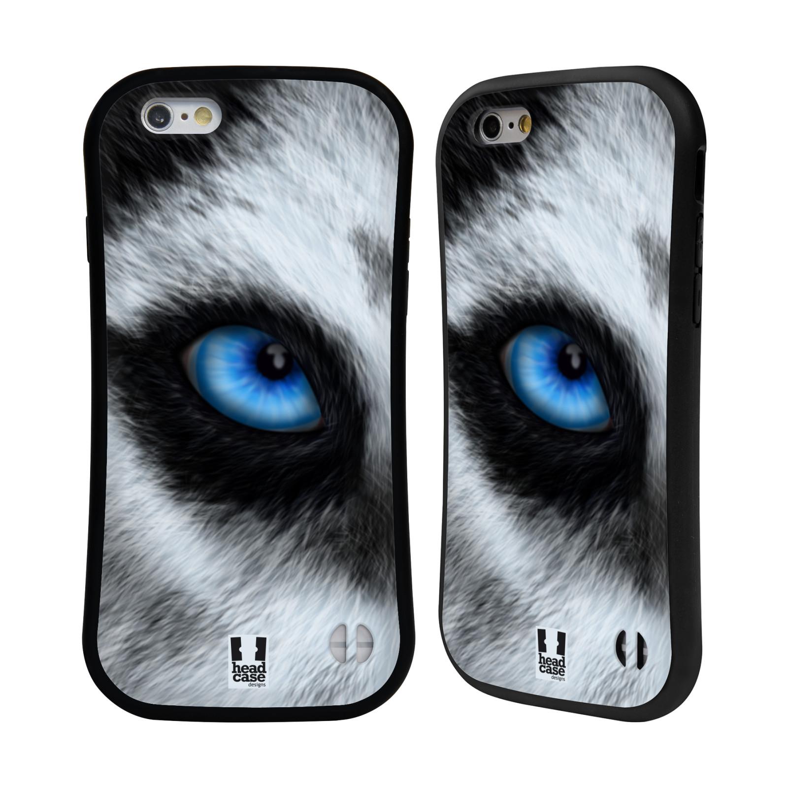 HEAD CASE silikon/plast odolný obal na mobil Apple Iphone 6/6S vzor pohled zvířete oko pes husky