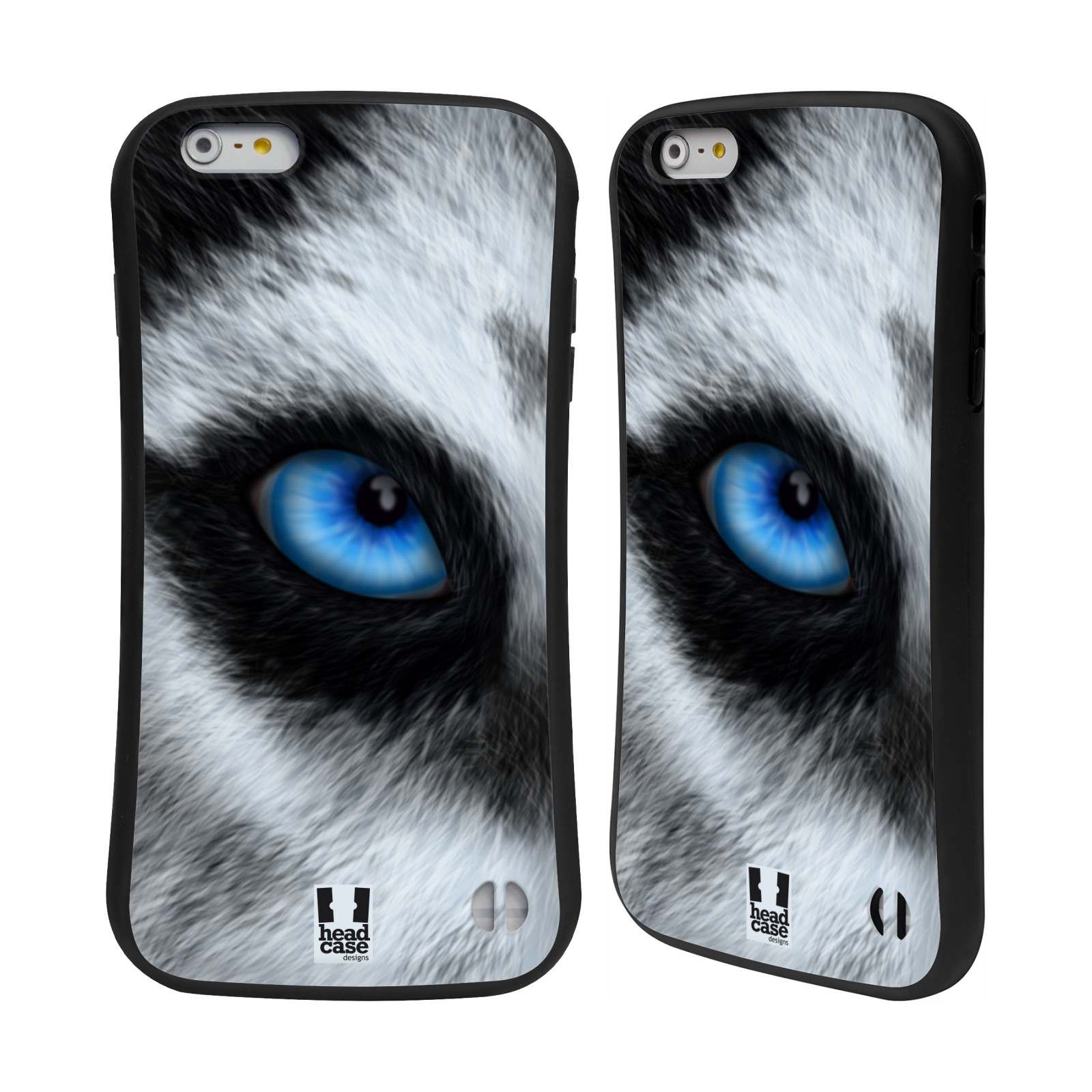 HEAD CASE silikon/plast odolný obal na mobil Apple Iphone 6 PLUS / 6S PLUS vzor pohled zvířete oko pes husky