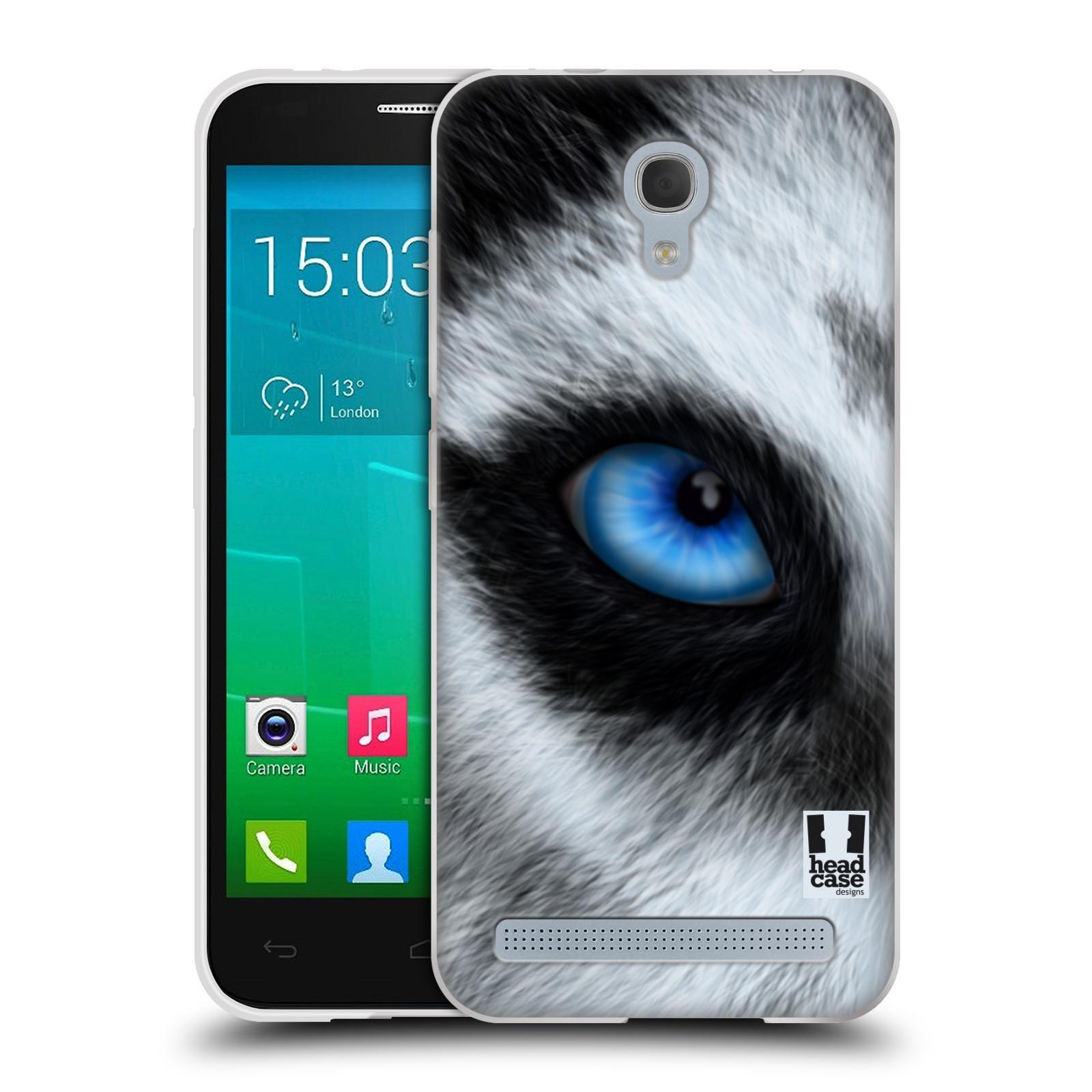 HEAD CASE silikonový obal na mobil Alcatel Idol 2 MINI S 6036Y vzor pohled zvířete oko pes husky