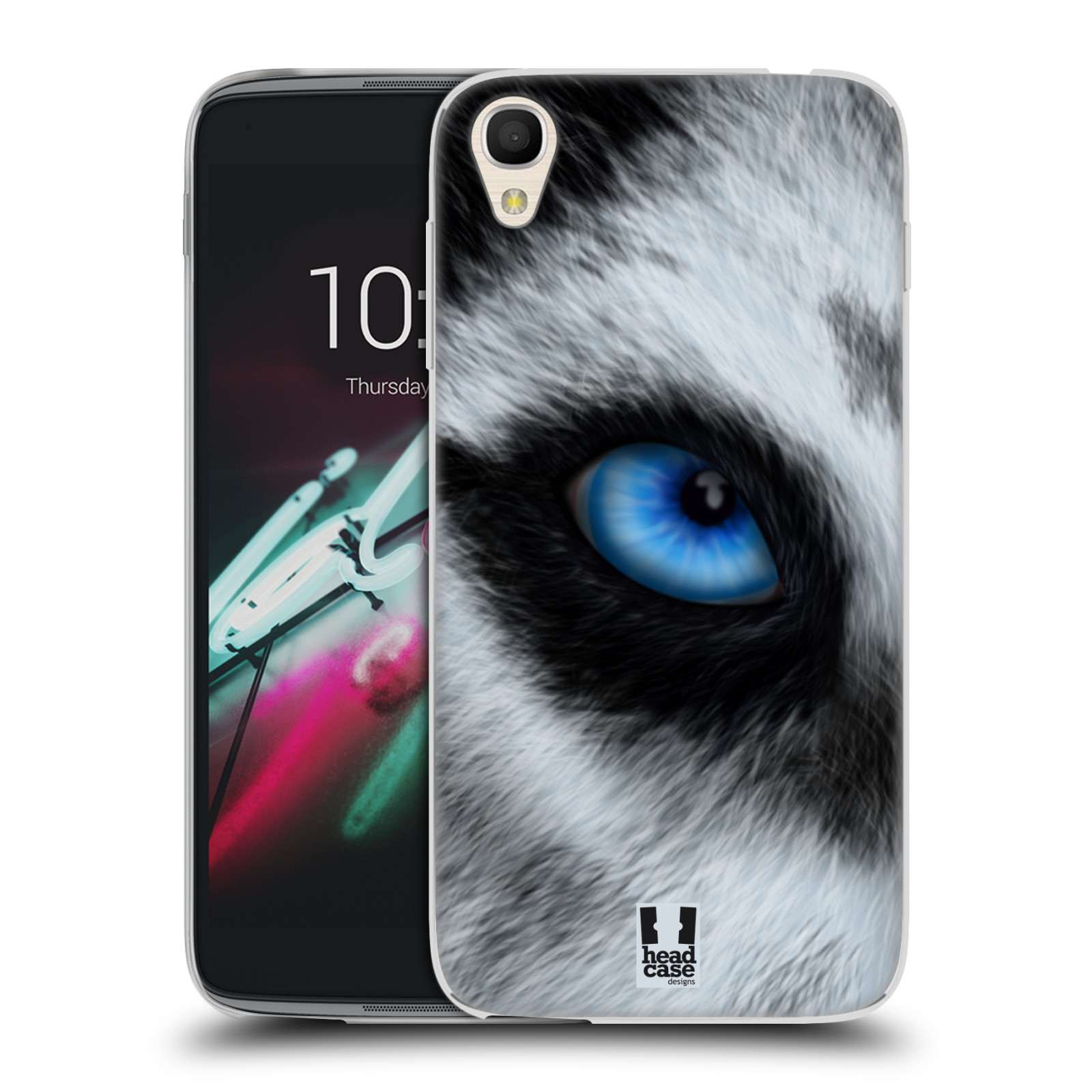 HEAD CASE silikonový obal na mobil Alcatel Idol 3 OT-6039Y (4.7) vzor pohled zvířete oko pes husky