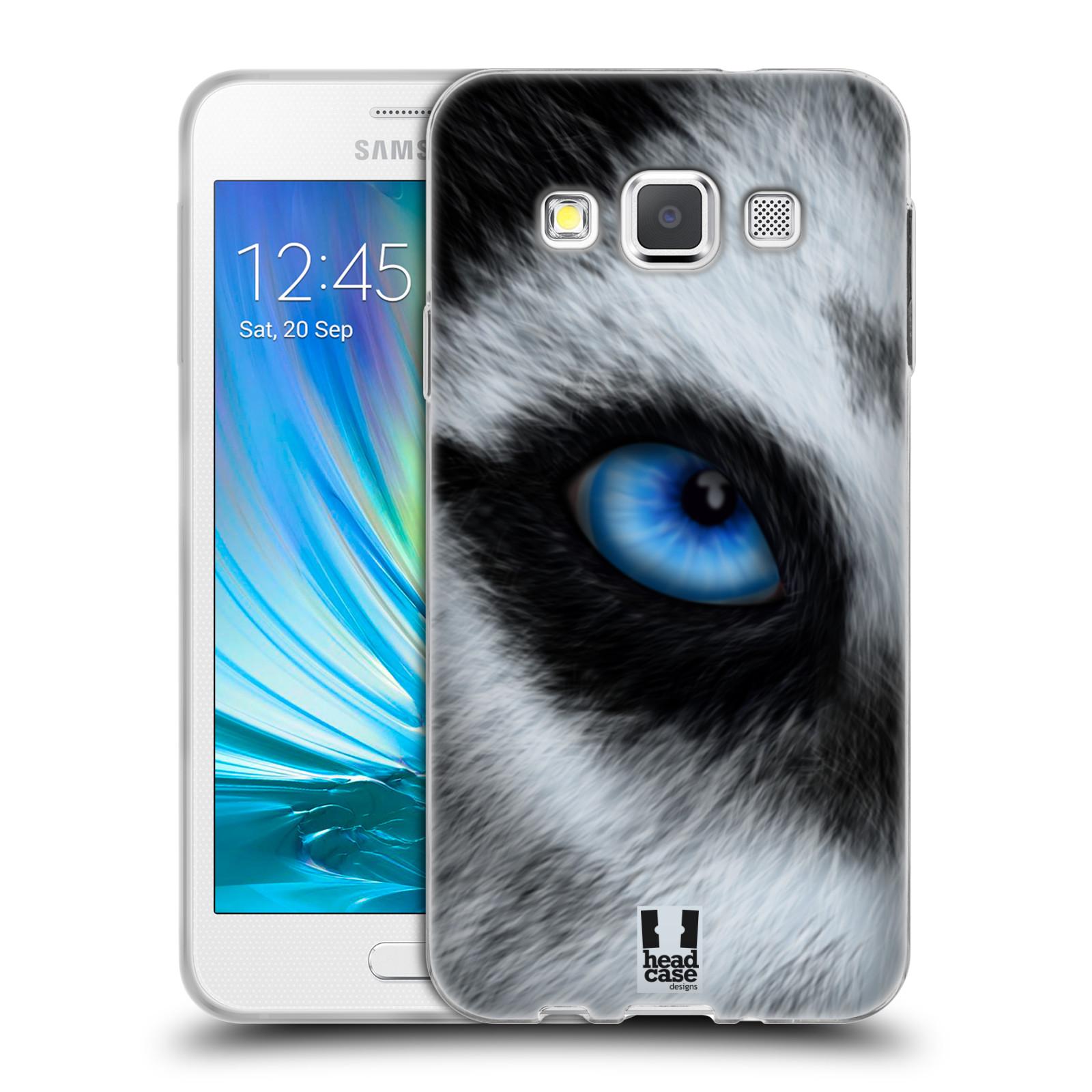 HEAD CASE silikonový obal na mobil Samsung Galaxy A3 vzor pohled zvířete oko pes husky