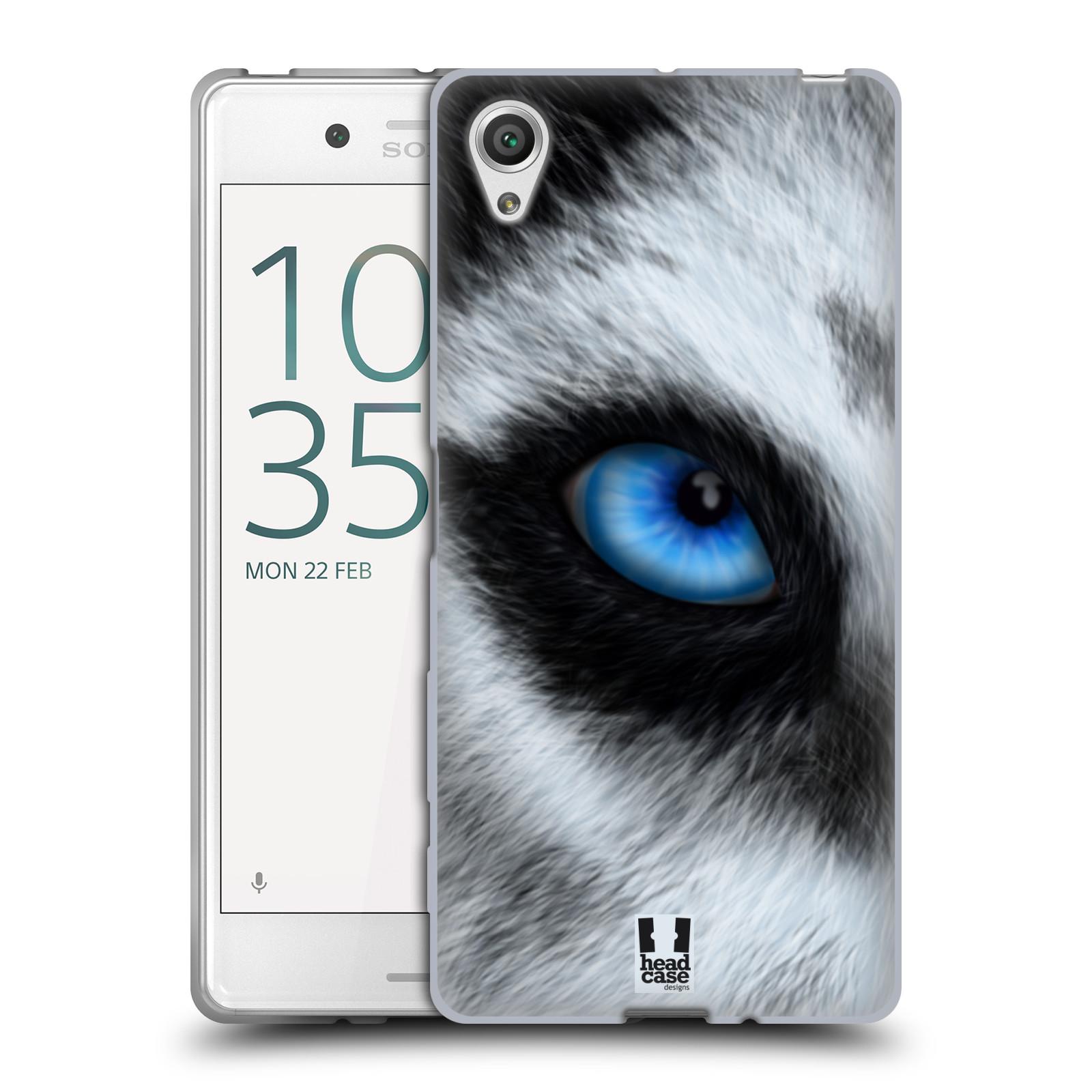 HEAD CASE silikonový obal na mobil Sony Xperia X / X DUAL vzor pohled zvířete oko pes husky