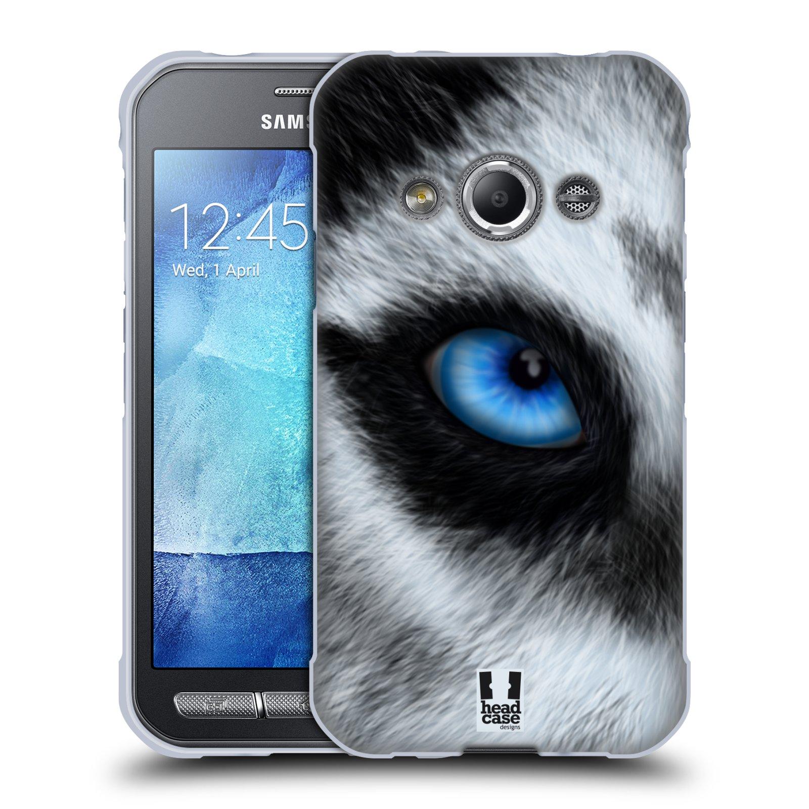 HEAD CASE silikonový obal na mobil Samsung Galaxy Xcover 3 vzor pohled zvířete oko pes husky