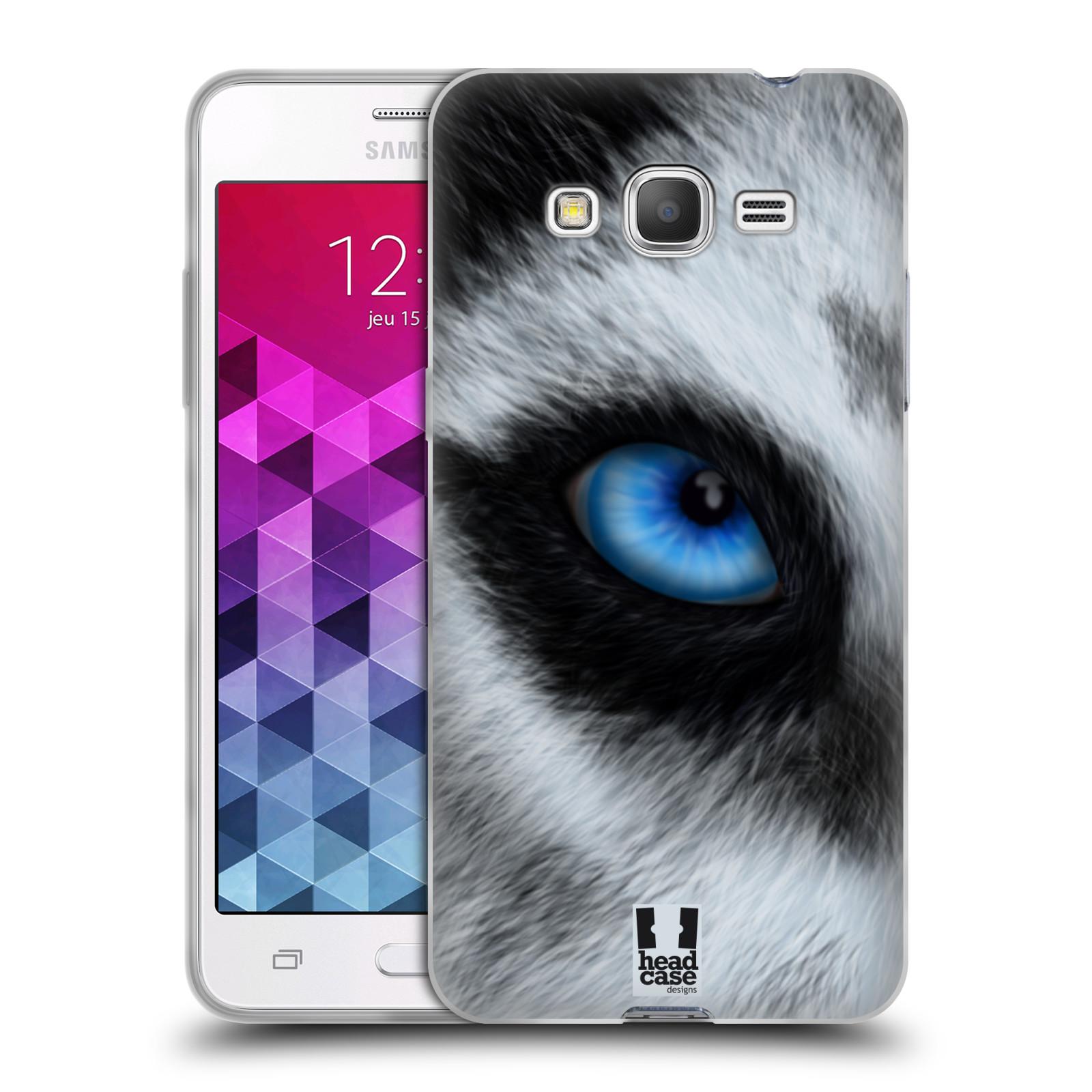 HEAD CASE silikonový obal na mobil Samsung Galaxy GRAND PRIME vzor pohled zvířete oko pes husky