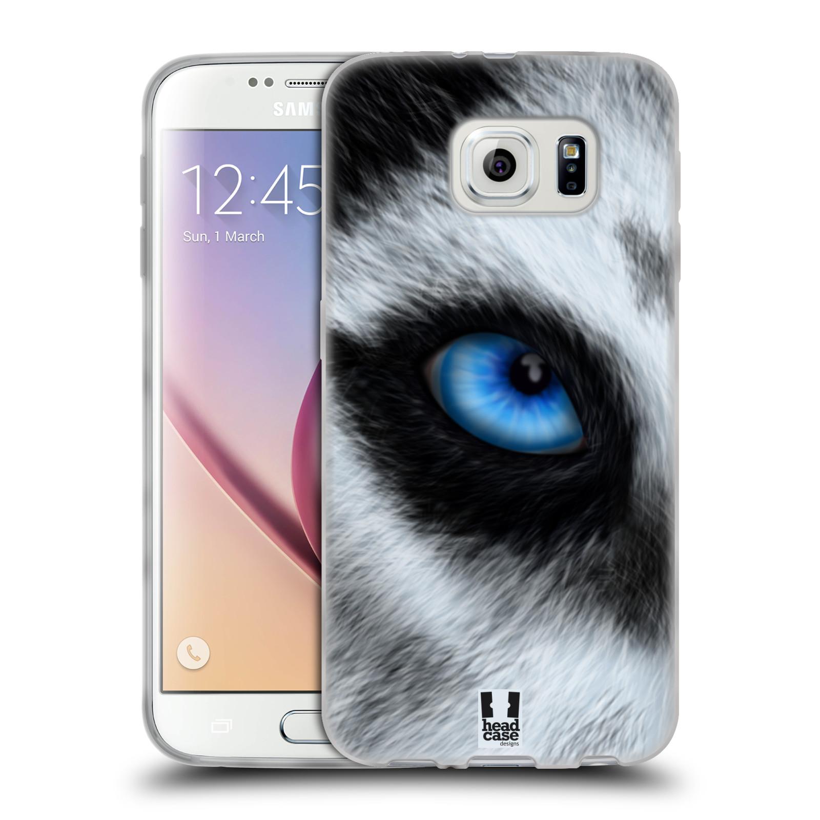 HEAD CASE silikonový obal na mobil Samsung Galaxy S6 vzor pohled zvířete oko pes husky