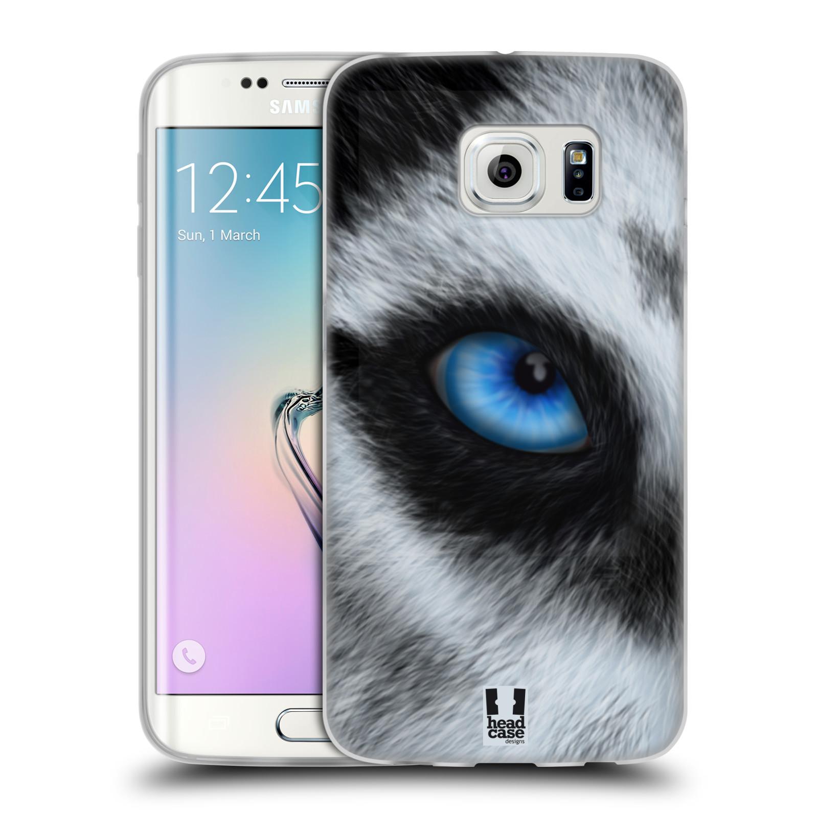 HEAD CASE silikonový obal na mobil Samsung Galaxy S6 EDGE vzor pohled zvířete oko pes husky