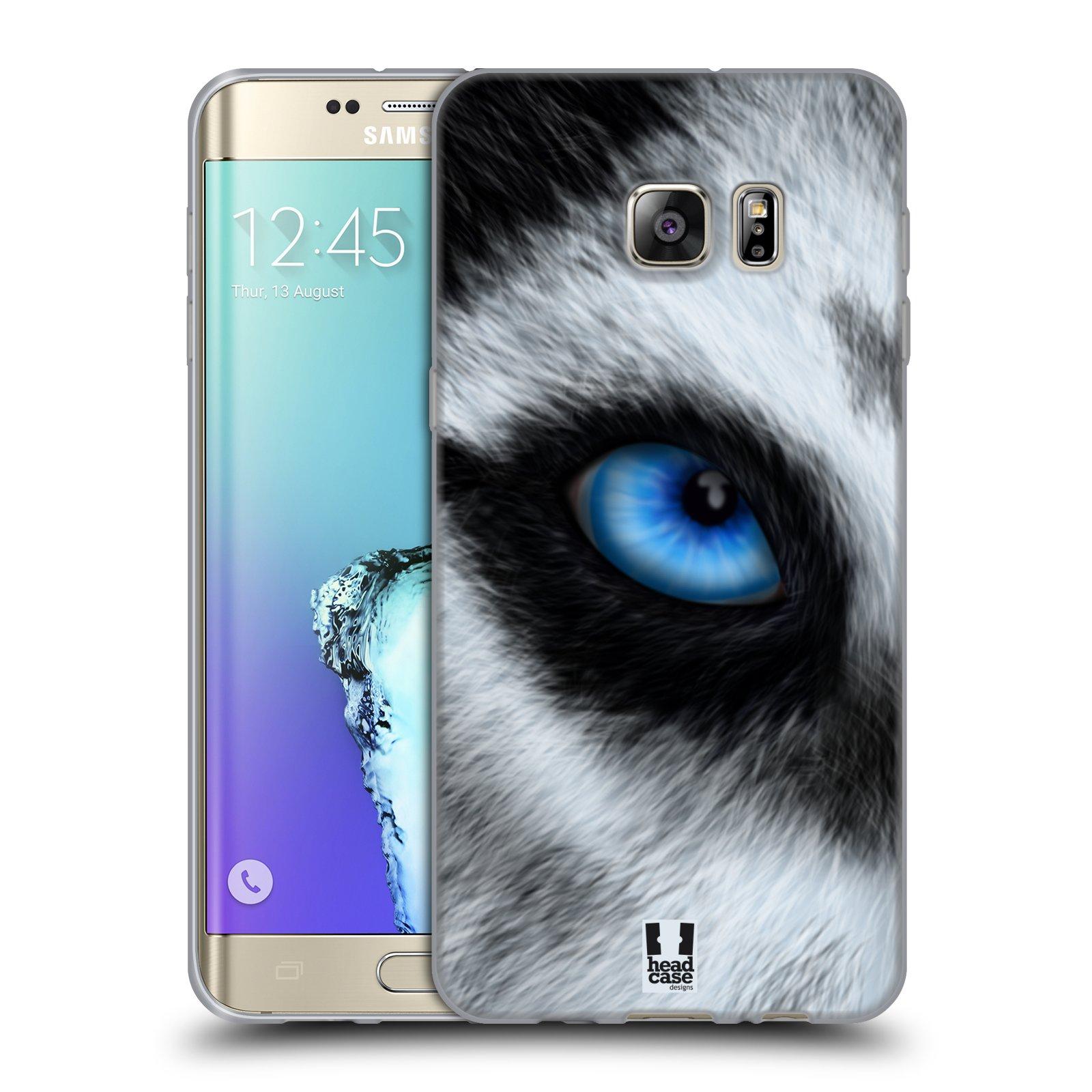 HEAD CASE silikonový obal na mobil Samsung Galaxy S6 EDGE PLUS vzor pohled zvířete oko pes husky