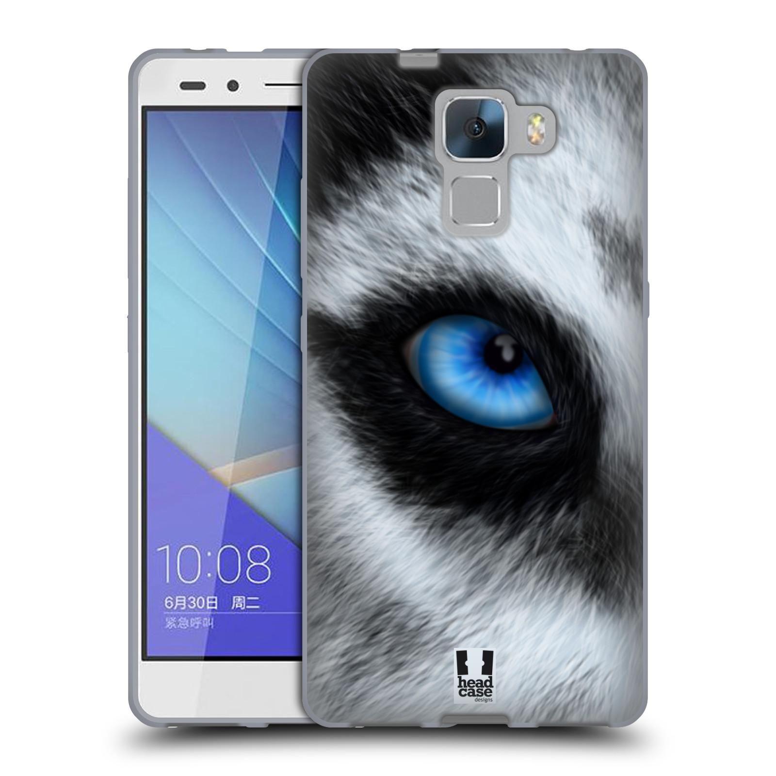 HEAD CASE silikonový obal na mobil HUAWEI HONOR 7 vzor pohled zvířete oko pes husky