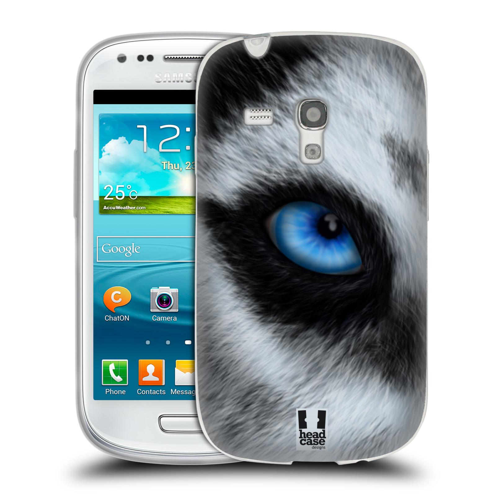HEAD CASE silikonový obal na mobil Samsung Galaxy S3 MINI i8190 vzor pohled zvířete oko pes husky
