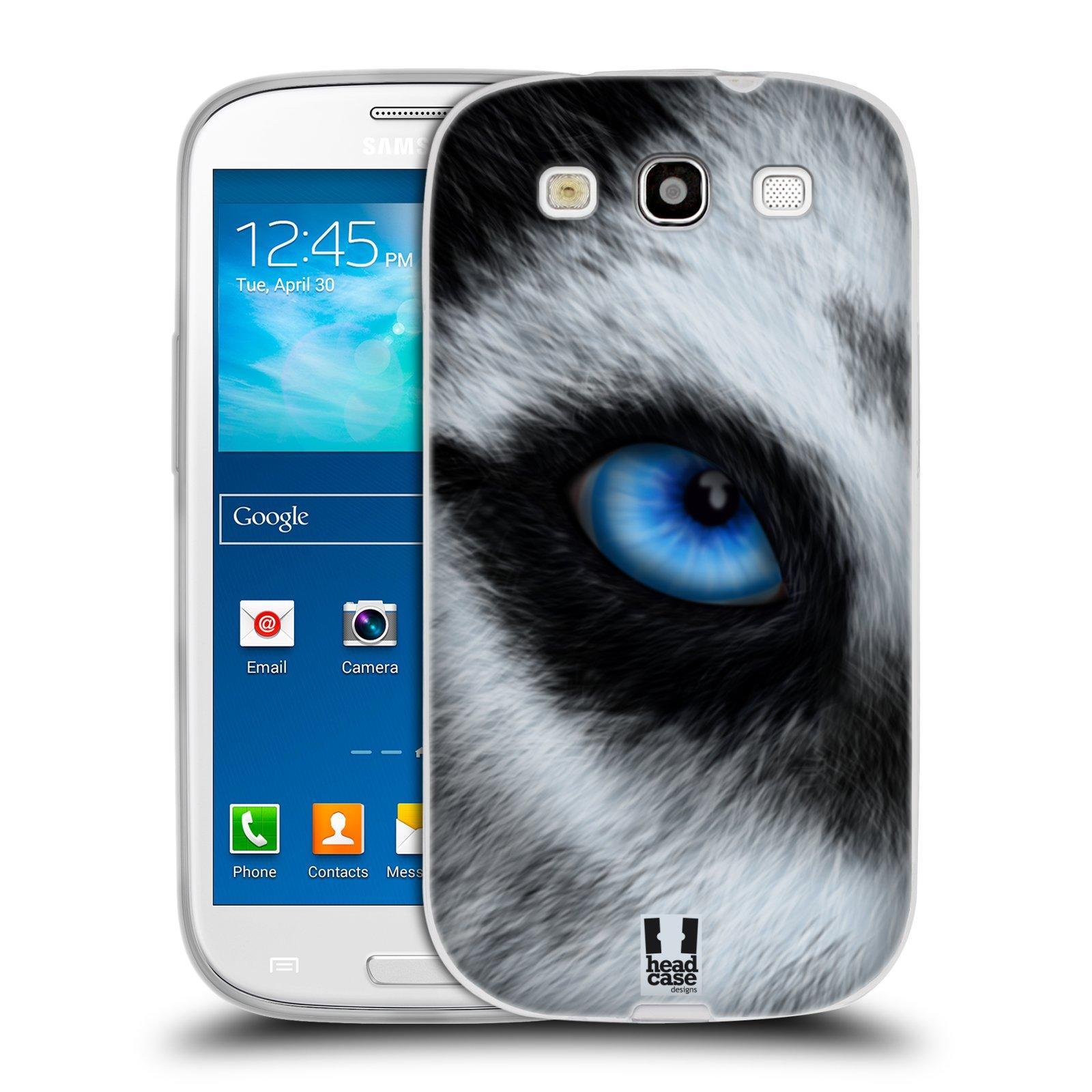 HEAD CASE silikonový obal na mobil Samsung Galaxy S3 i9300 vzor pohled zvířete oko pes husky