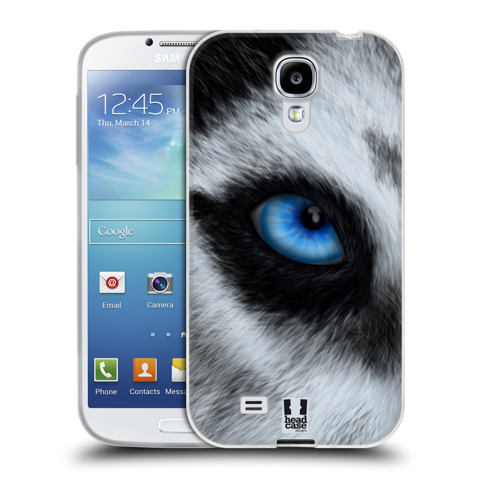HEAD CASE silikonový obal na mobil Samsung Galaxy S4 i9500 vzor pohled zvířete oko pes husky