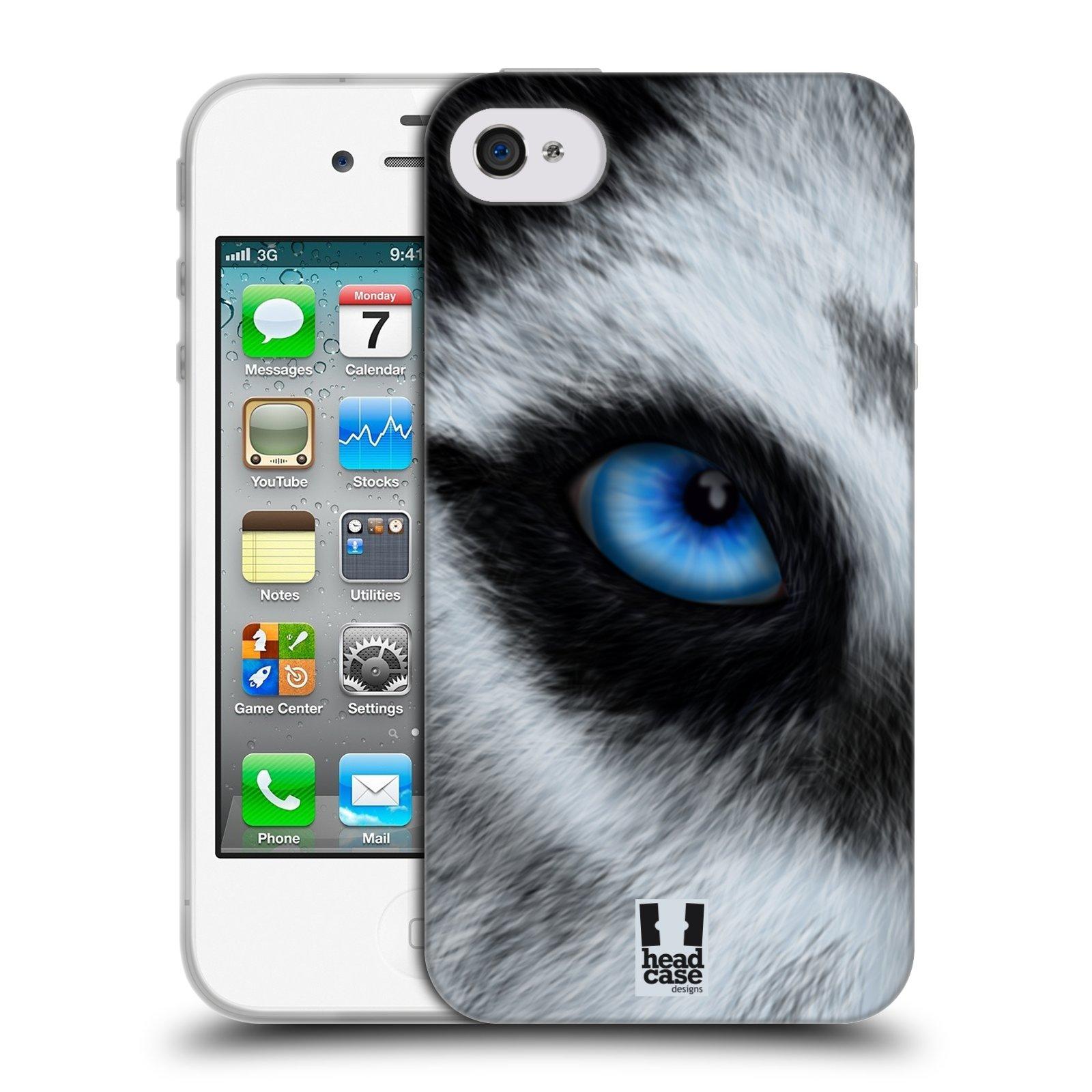 HEAD CASE silikonový obal na mobil Apple Iphone 4/4S vzor pohled zvířete oko pes husky