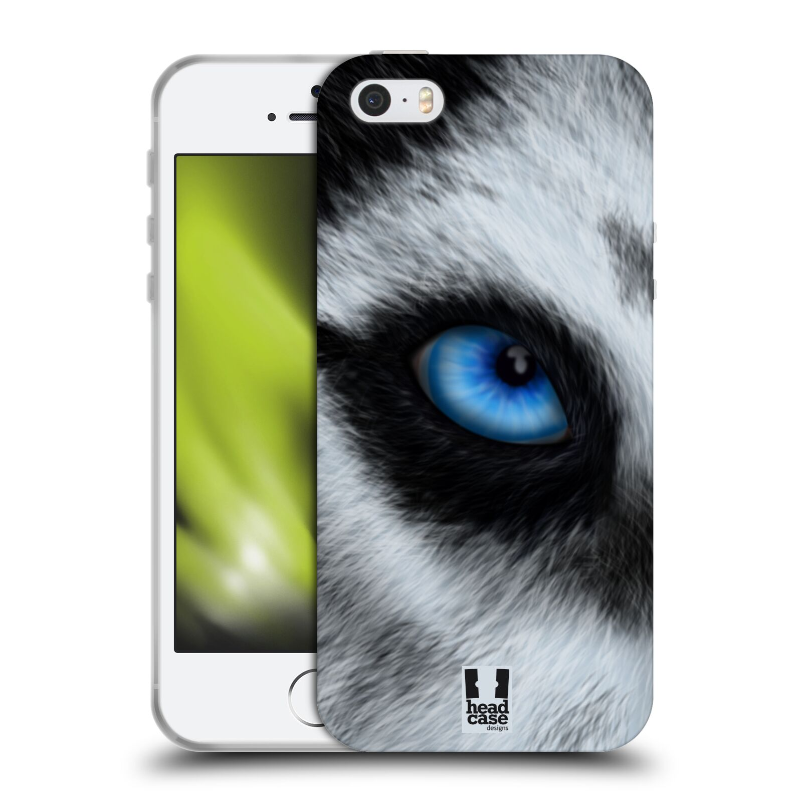 HEAD CASE silikonový obal na mobil Apple Iphone 5/5S vzor pohled zvířete oko pes husky