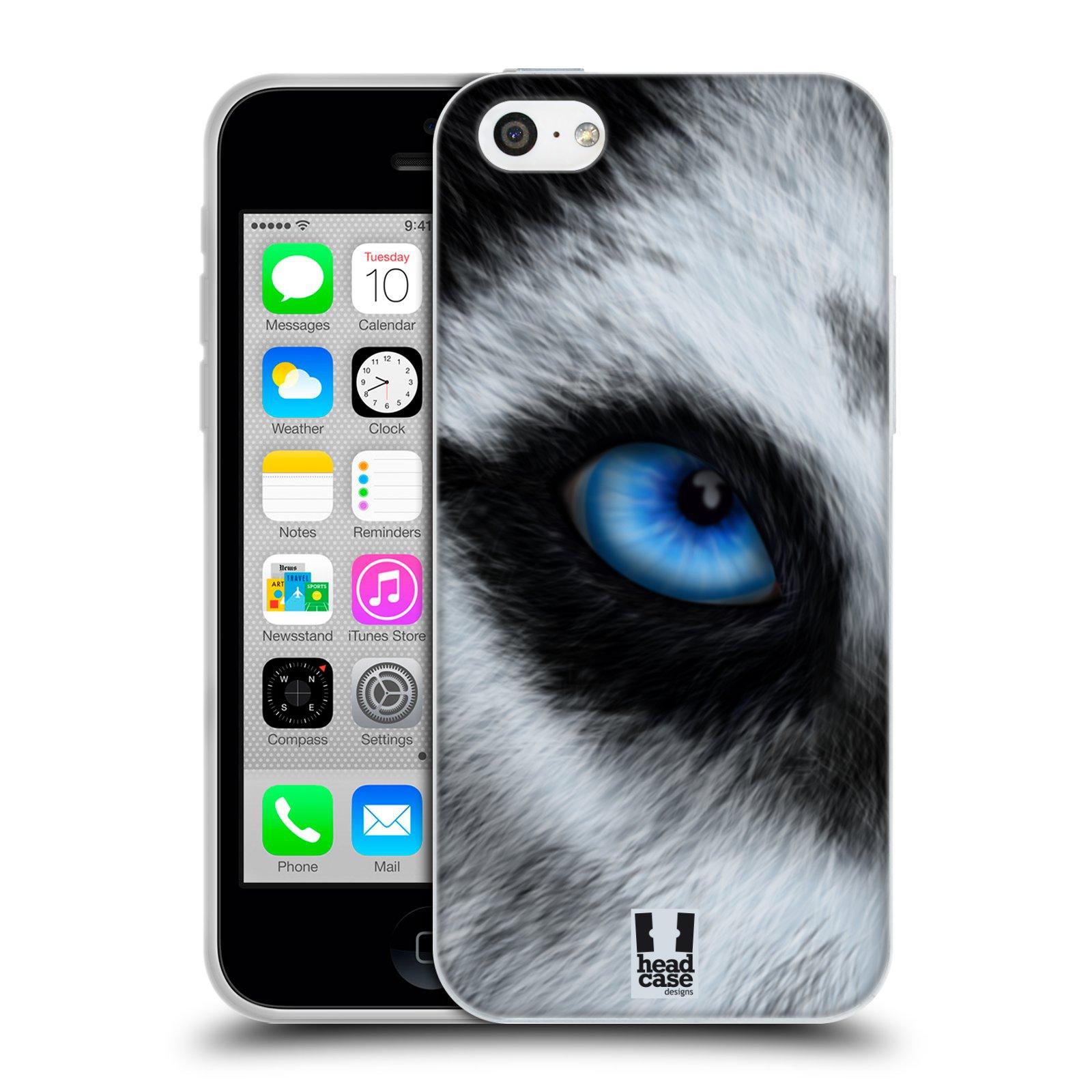 HEAD CASE silikonový obal na mobil Apple Iphone 5C vzor pohled zvířete oko pes husky