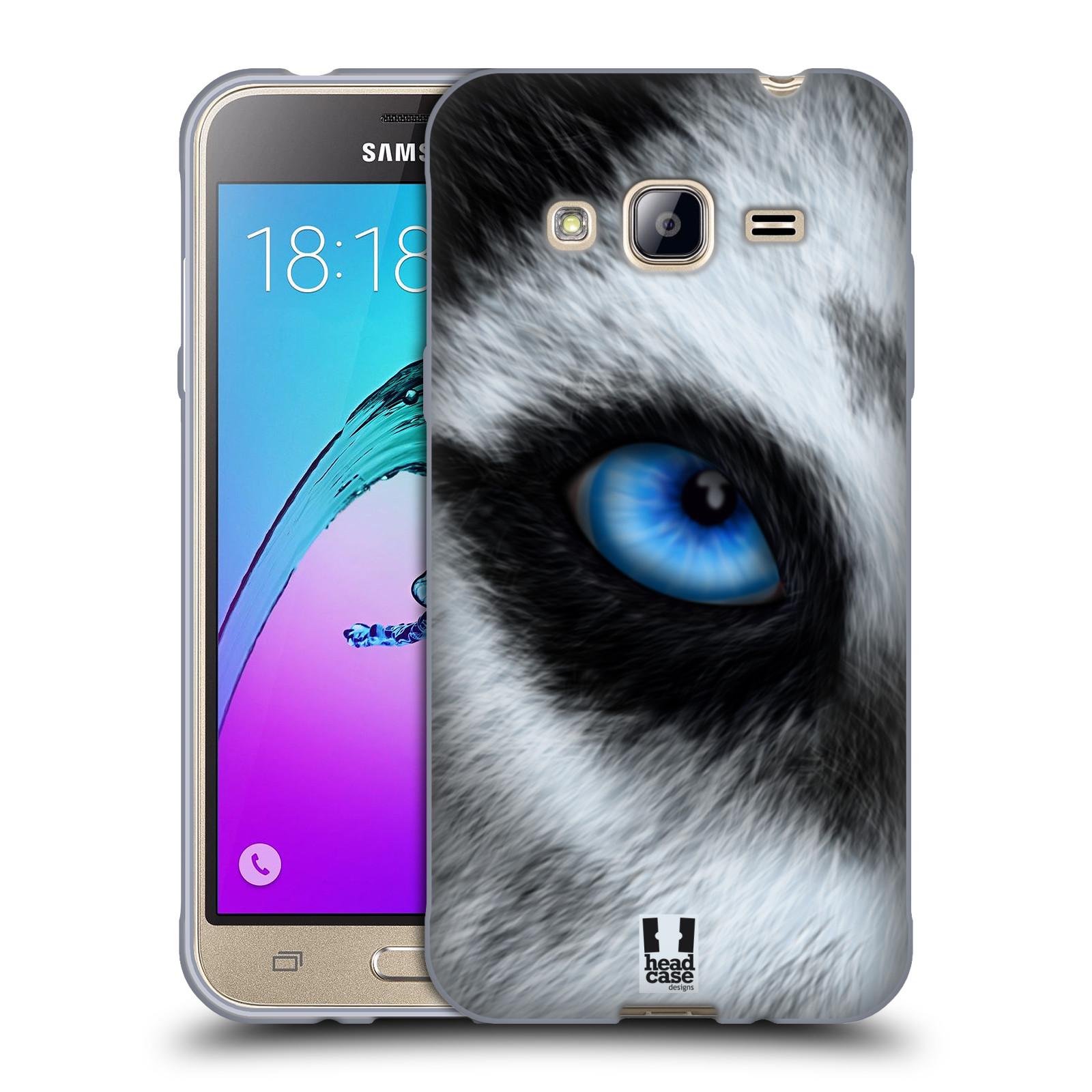 HEAD CASE silikonový obal na mobil Samsung Galaxy J3, J3 2016 vzor pohled zvířete oko pes husky