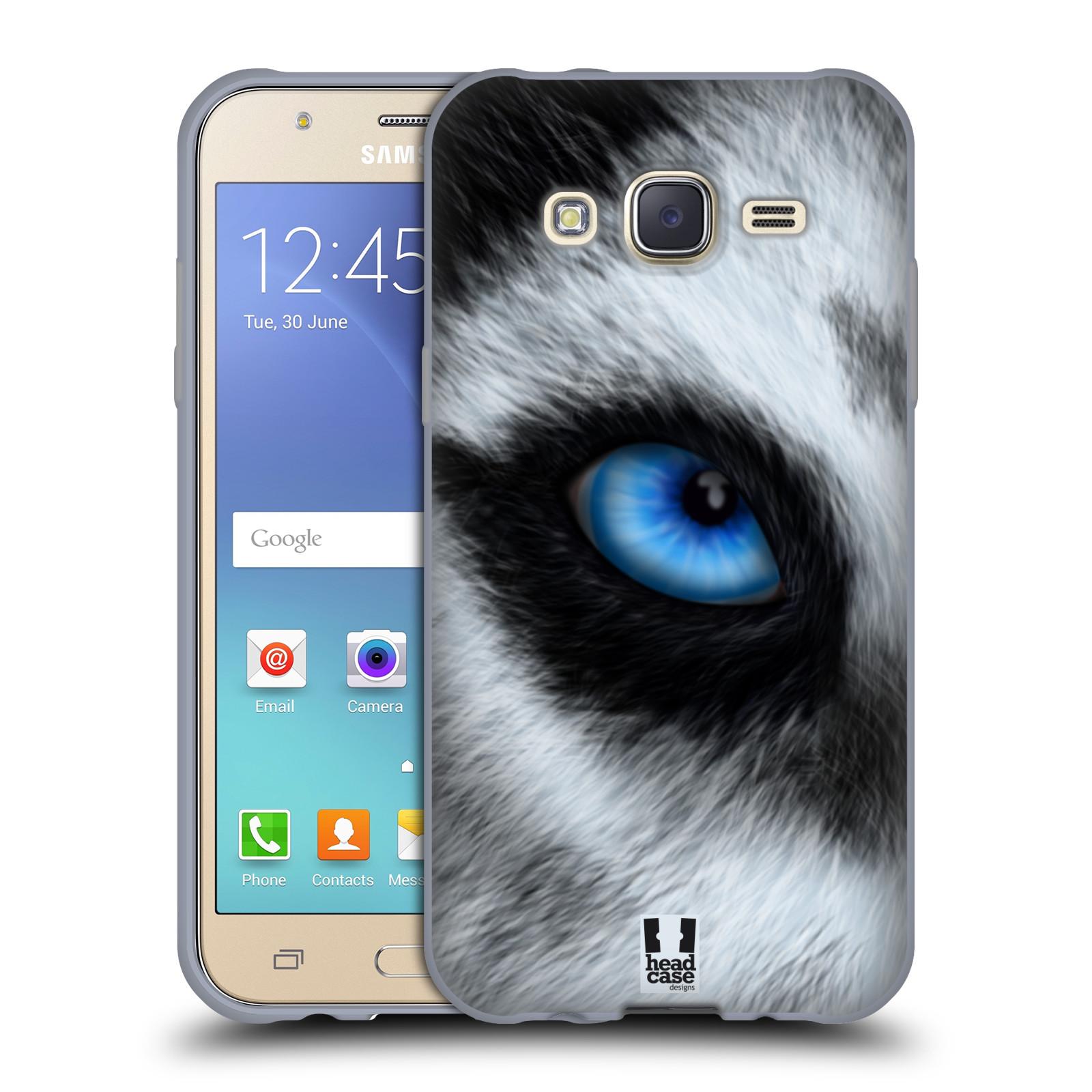 HEAD CASE silikonový obal na mobil Samsung Galaxy J5, J500, (J5 DUOS) vzor pohled zvířete oko pes husky