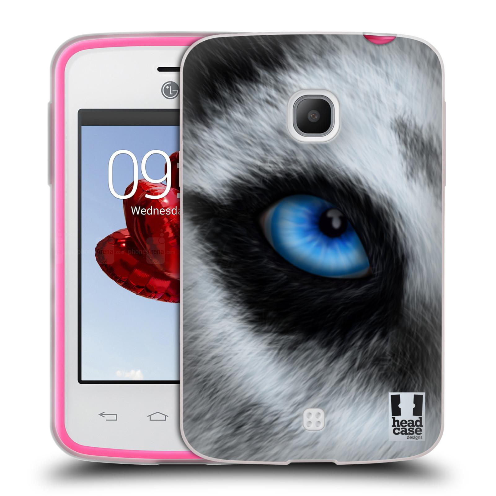 HEAD CASE silikonový obal na mobil LG L30 vzor pohled zvířete oko pes husky