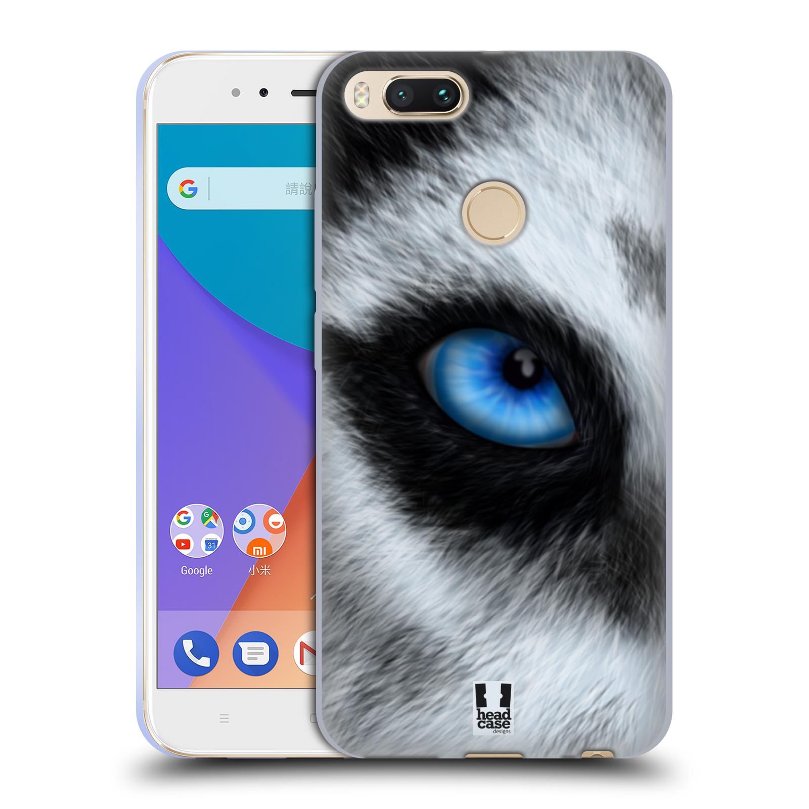Silikonové pouzdro na mobil Xiaomi Mi A1 vzor pohled zvířete oko pes husky