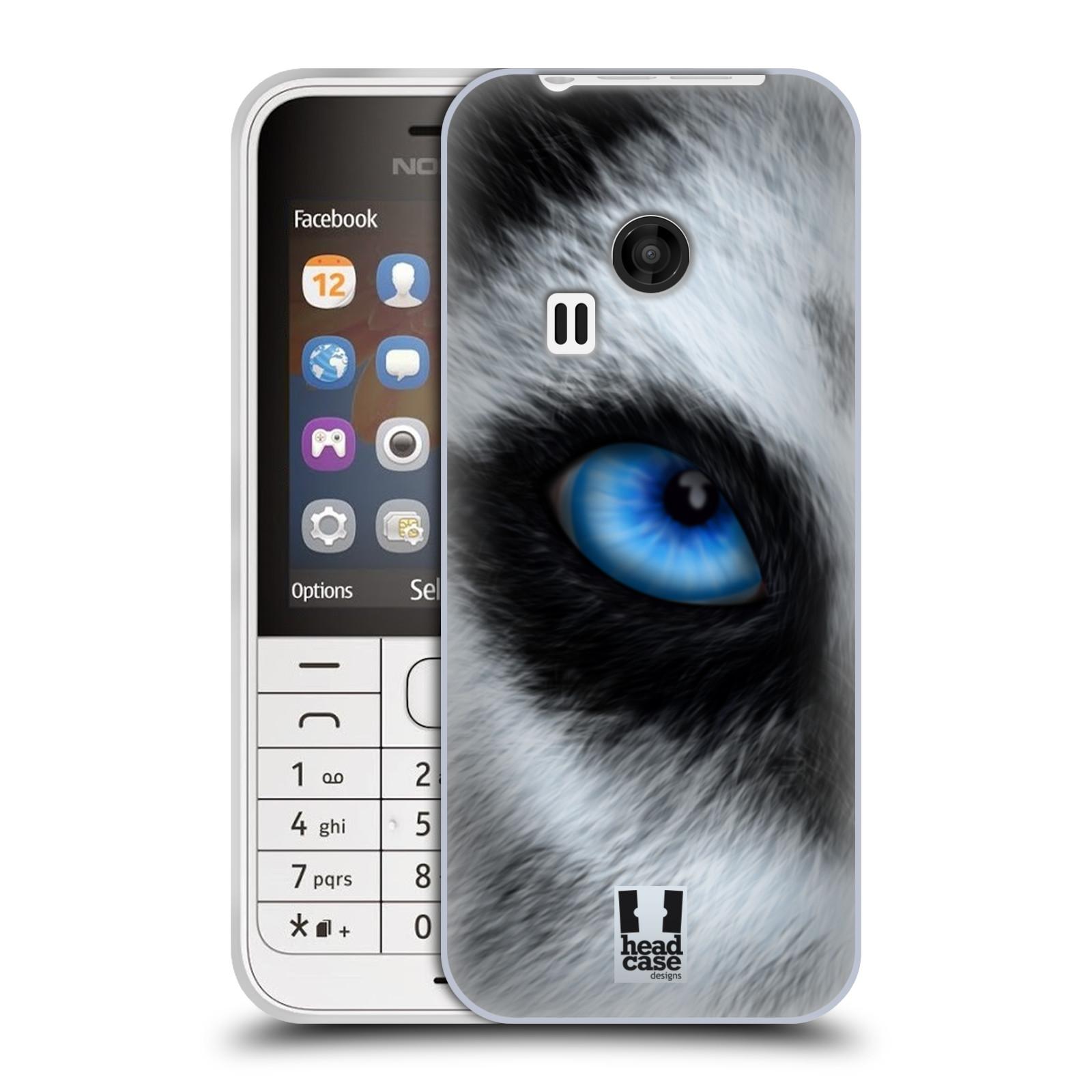 HEAD CASE silikonový obal na mobil NOKIA 220 / NOKIA 220 DUAL SIM vzor pohled zvířete oko pes husky