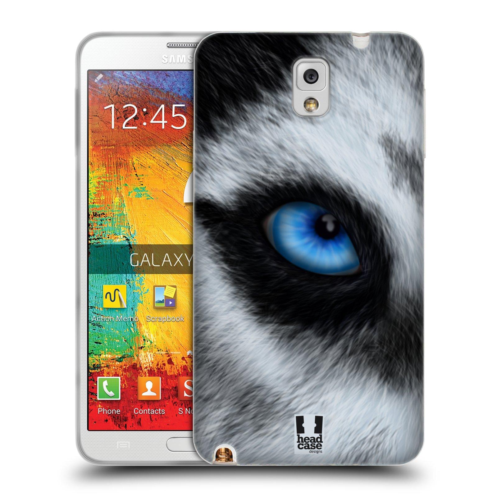 HEAD CASE silikonový obal na mobil Samsung Galaxy Note 3 (N9005) vzor pohled zvířete oko pes husky