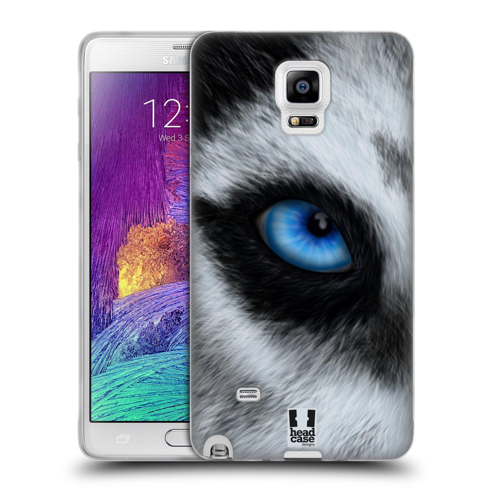 HEAD CASE silikonový obal na mobil Samsung Galaxy Note 4 (N910) vzor pohled zvířete oko pes husky