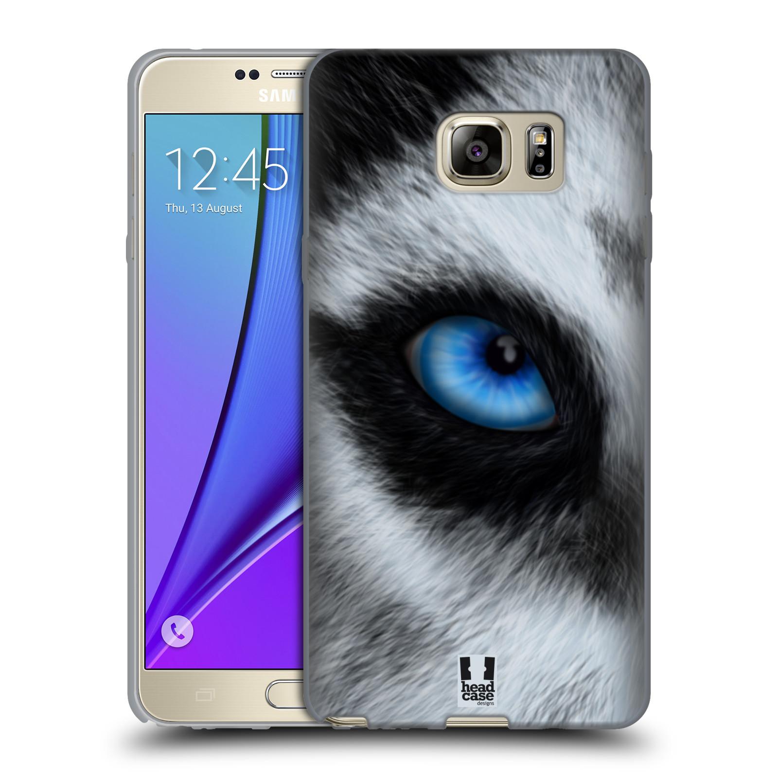 HEAD CASE silikonový obal na mobil Samsung Galaxy Note 5 (N920) vzor pohled zvířete oko pes husky