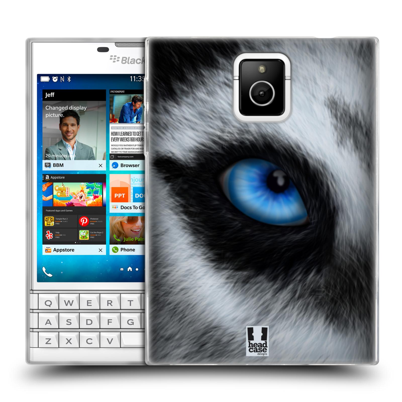 HEAD CASE silikonový obal na mobil Blackberry PASSPORT vzor pohled zvířete oko pes husky