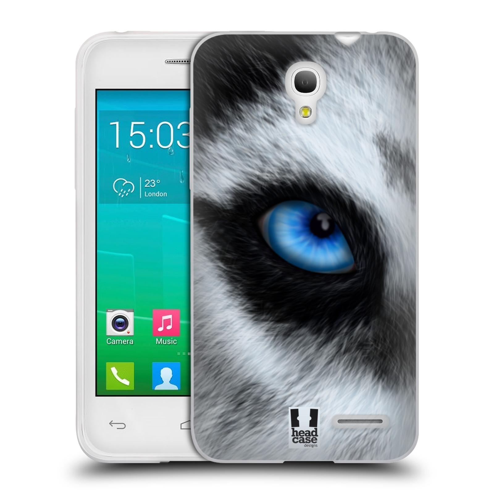 HEAD CASE silikonový obal na mobil Alcatel POP S3 OT-5050Y vzor pohled zvířete oko pes husky