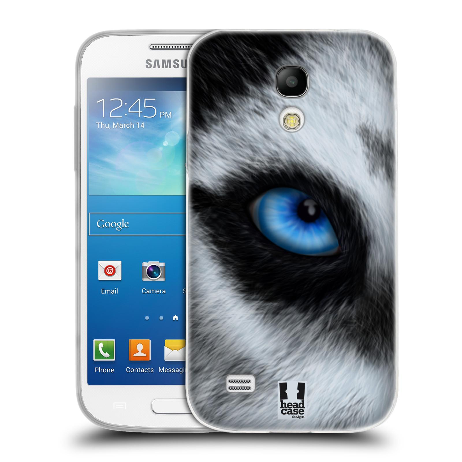 HEAD CASE silikonový obal na mobil Samsung Galaxy S4 MINI vzor pohled zvířete oko pes husky