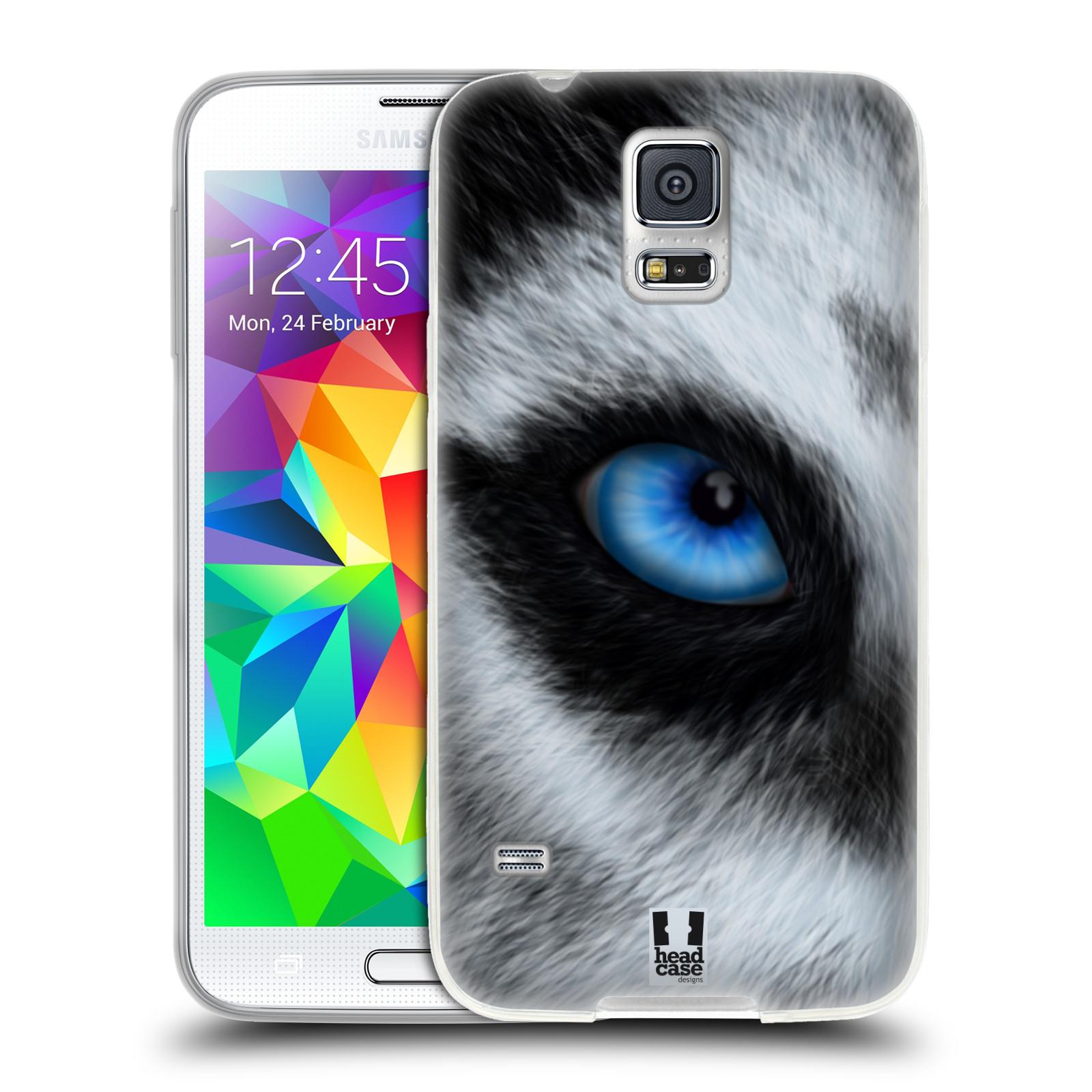 HEAD CASE silikonový obal na mobil Samsung Galaxy S5/S5 NEO vzor pohled zvířete oko pes husky