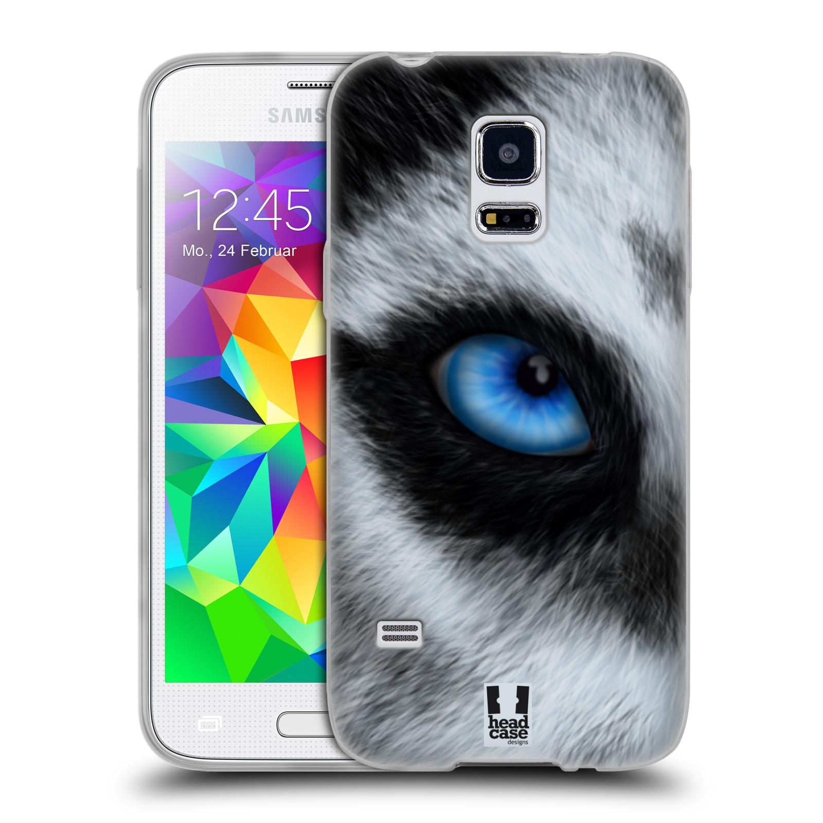 HEAD CASE silikonový obal na mobil Samsung Galaxy S5 MINI vzor pohled zvířete oko pes husky