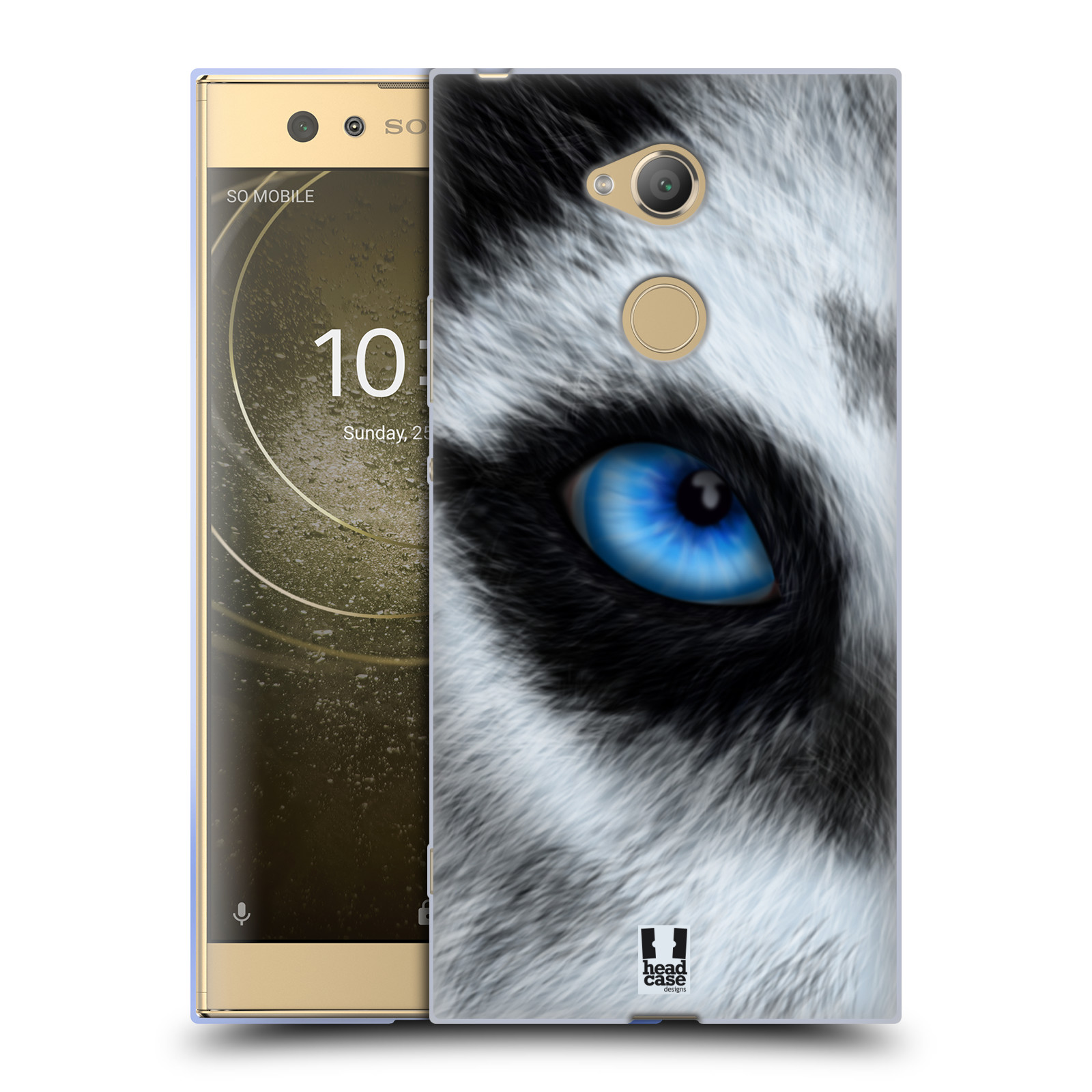Pouzdro na mobil Sony Xperia XA2 Ultra vzor pohled zvířete oko pes husky