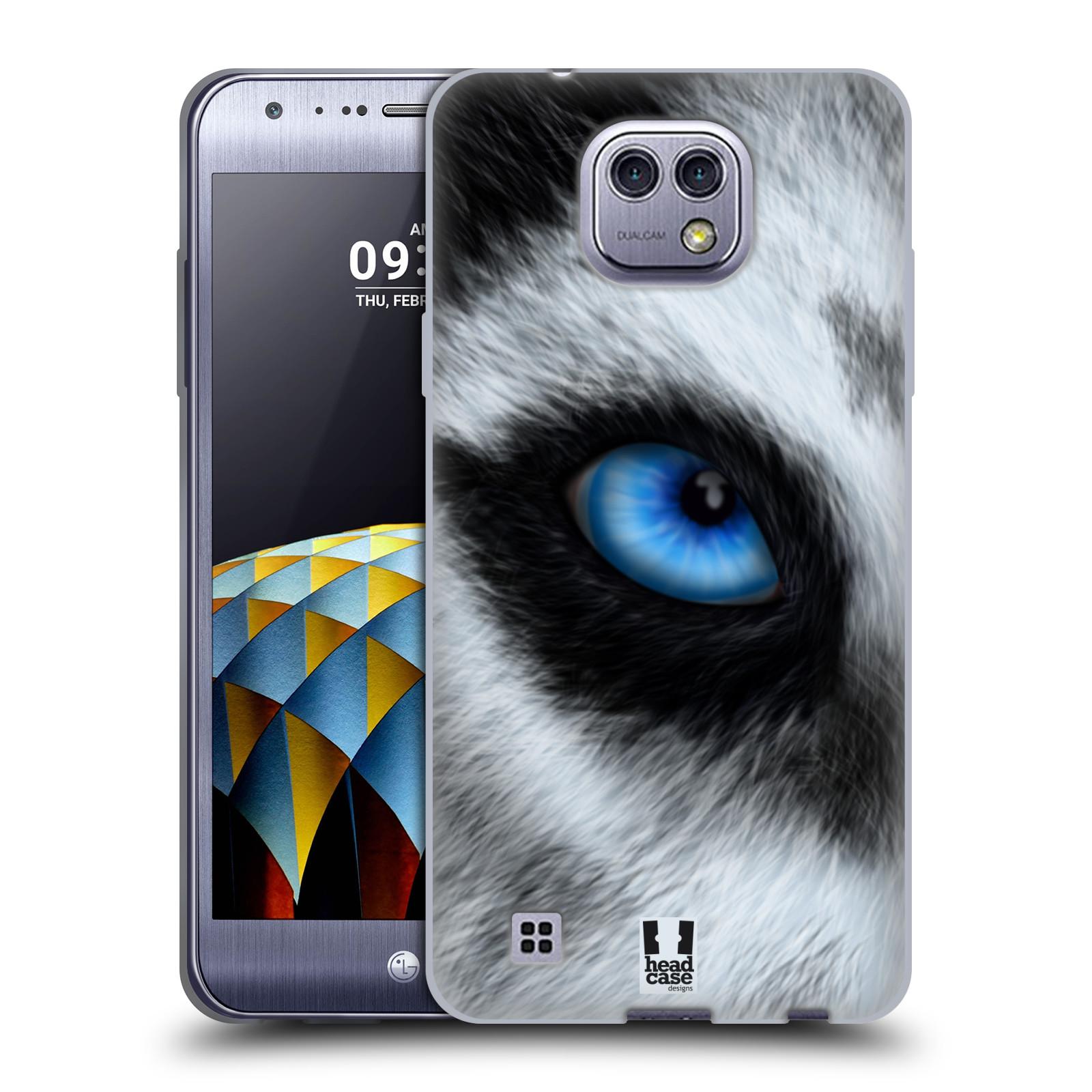 HEAD CASE silikonový obal na mobil LG X Cam vzor pohled zvířete oko pes husky