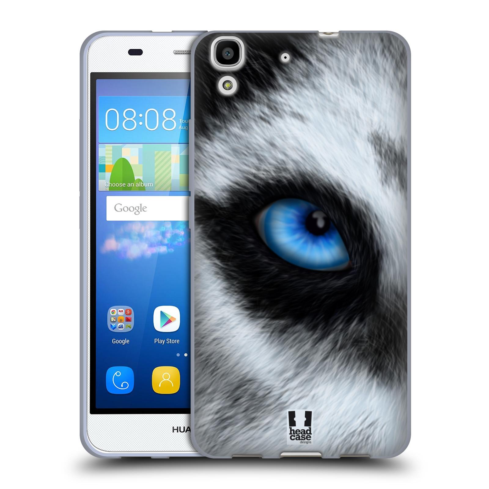 HEAD CASE silikonový obal na mobil HUAWEI Y6 vzor pohled zvířete oko pes husky
