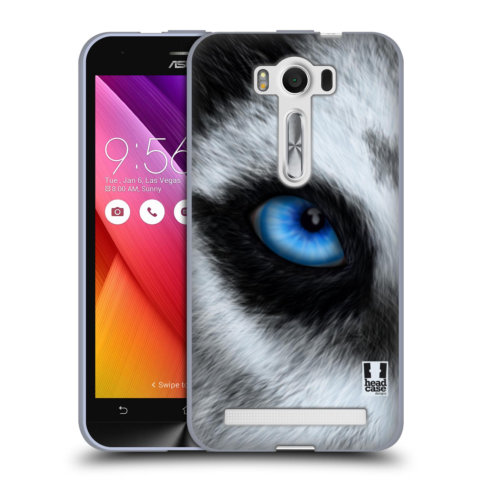 "HEAD CASE silikonový obal na mobil Asus Zenfone 2 LASER (ZE500KL s 5"" displejem) vzor pohled zvířete oko pes husky"
