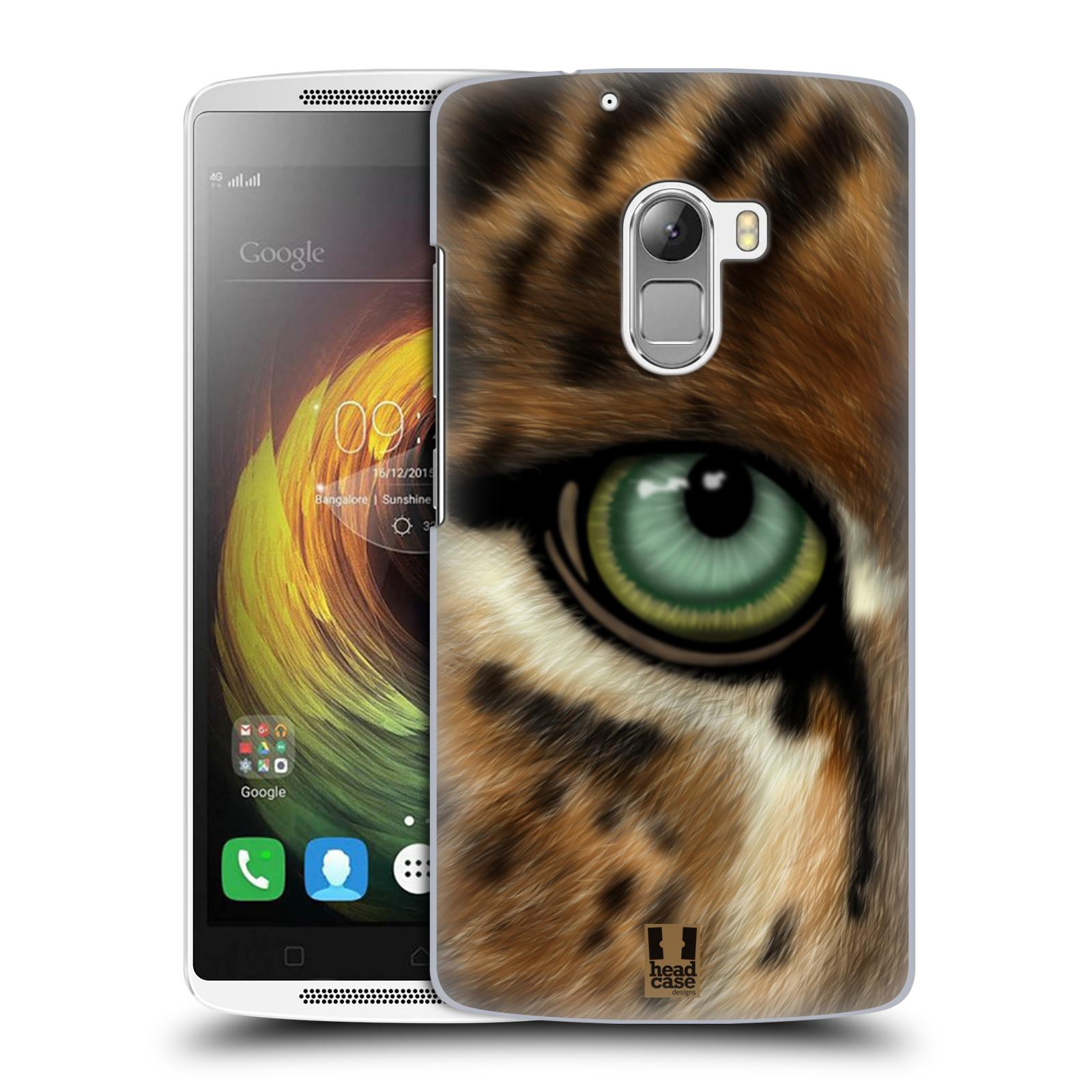 HEAD CASE pevný plastový obal na mobil LENOVO A7010 / A7010 DUAL / K4 Note / Vibe X3 lite vzor pohled zvířete oko leopard